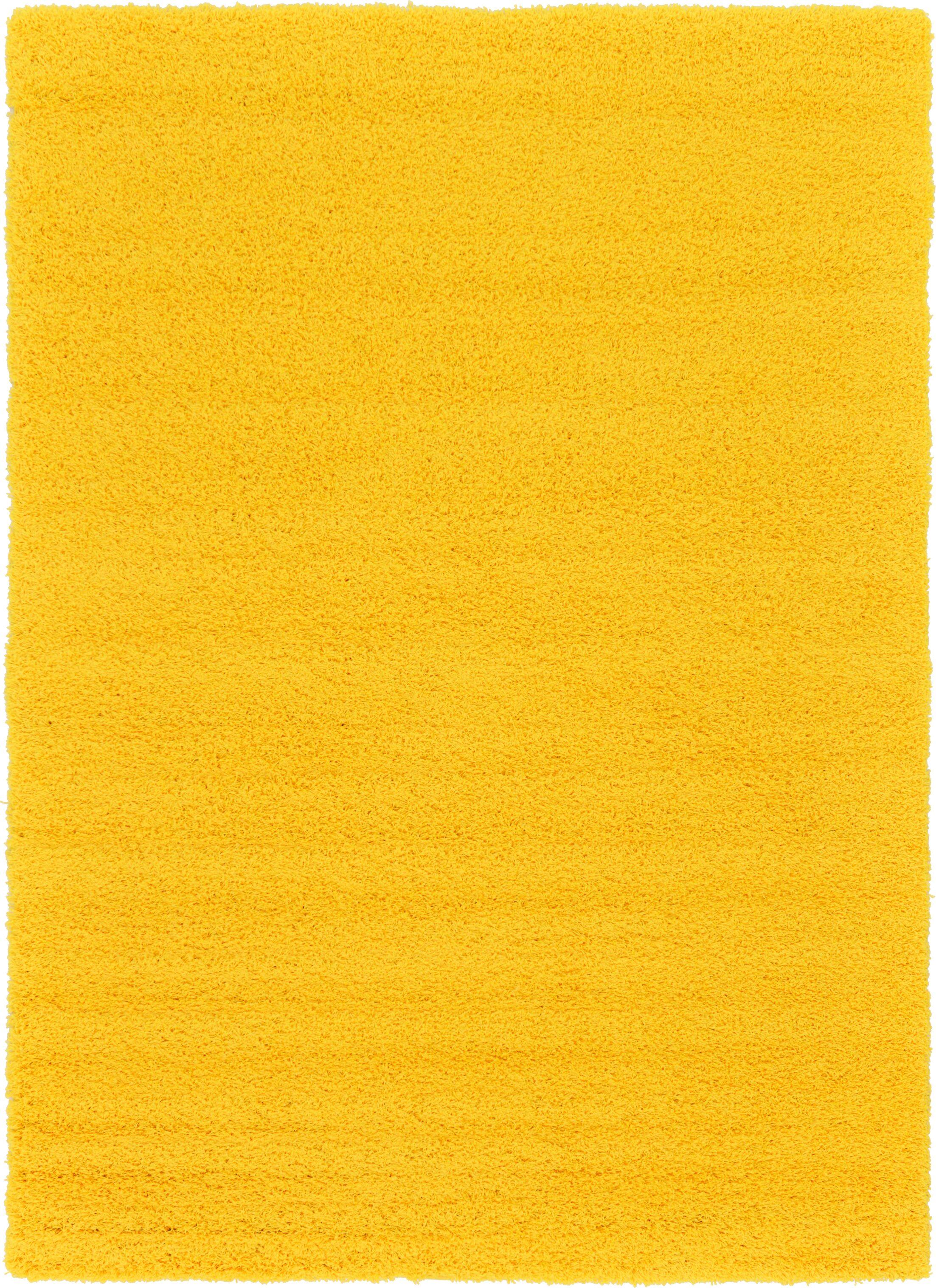 Madison Basic Dark Yellow Area Rug Rug Size: Rectangle 7' x 10'