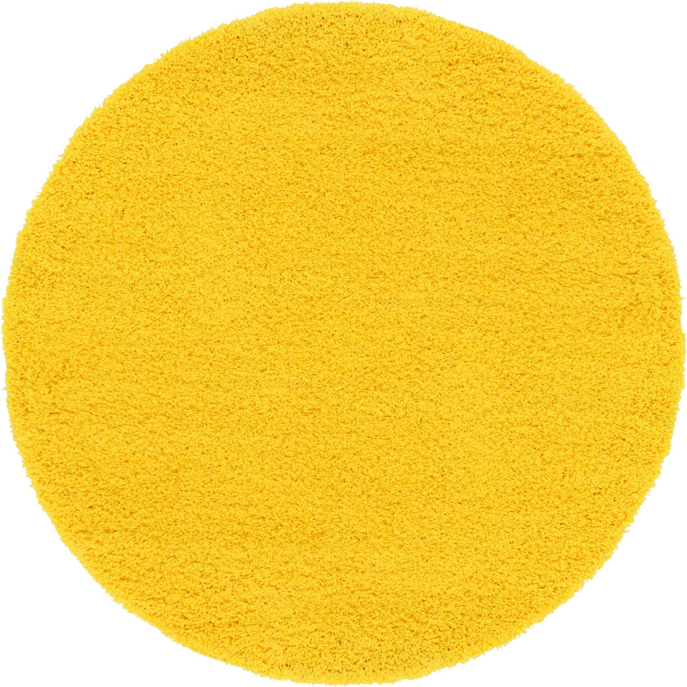 Madison Basic Dark Yellow Area Rug Rug Size: Round 6'
