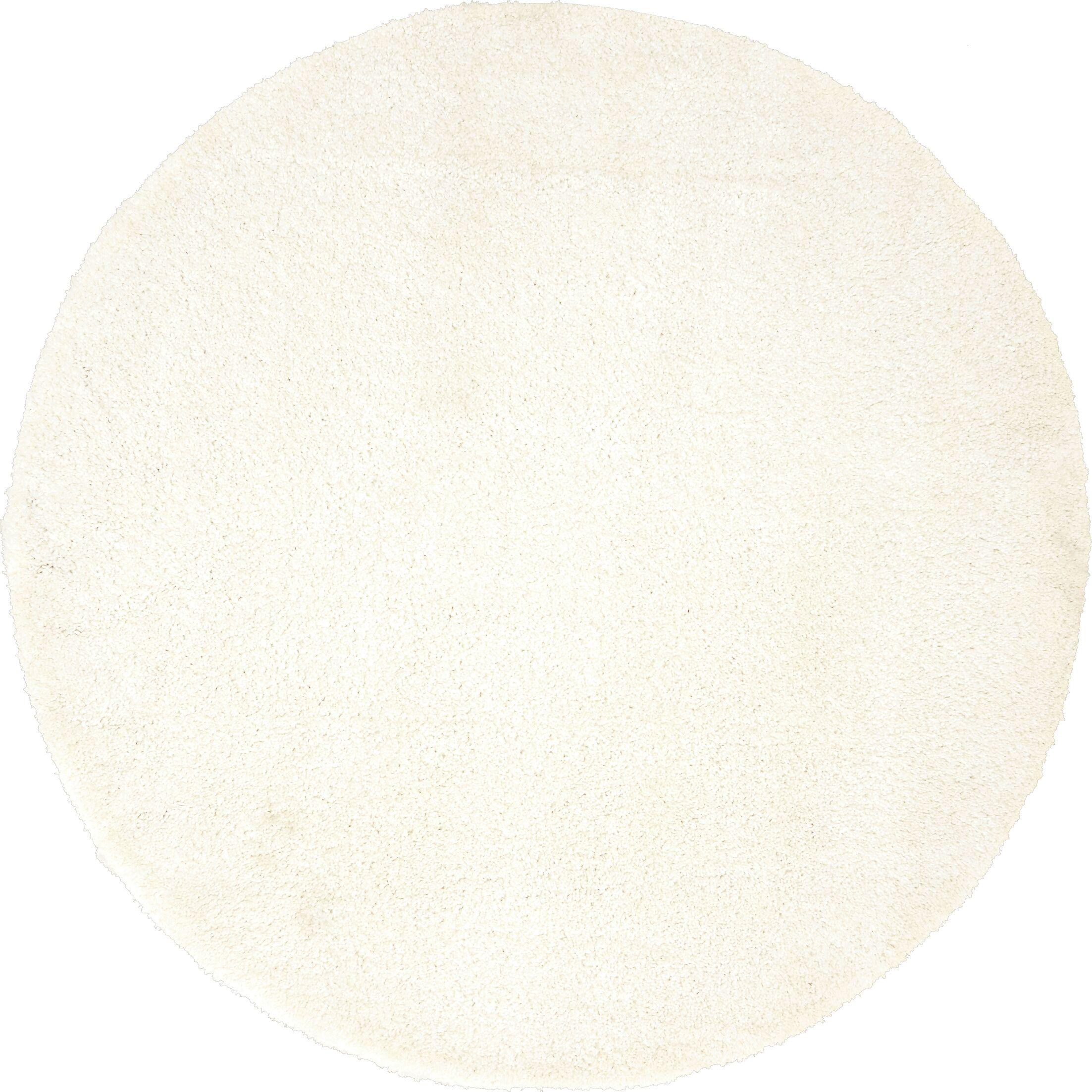 Truett White Area Rug Rug Size: Round 6'