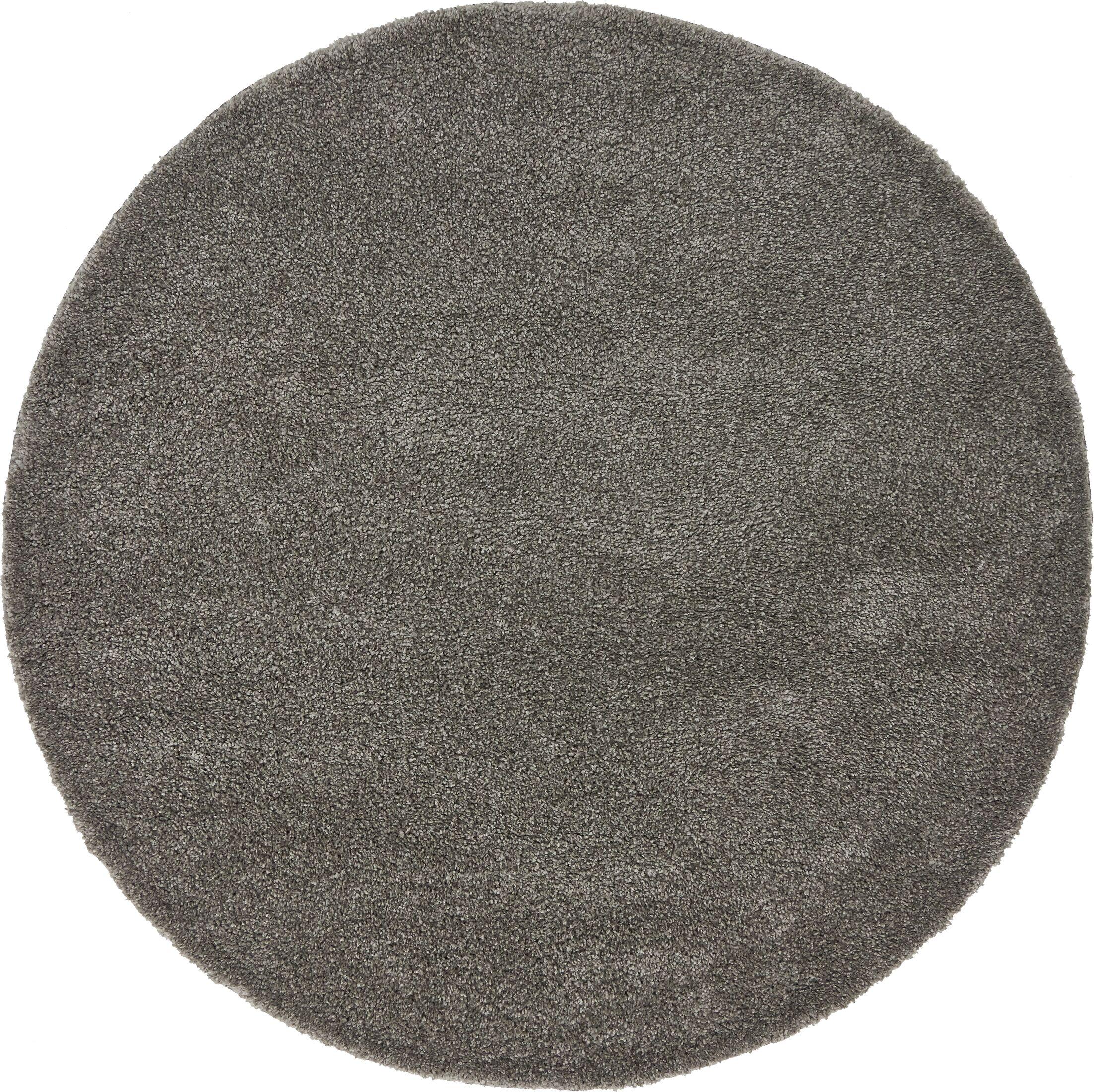 Sydnee Gray Area Rug Rug Size: Round 8'