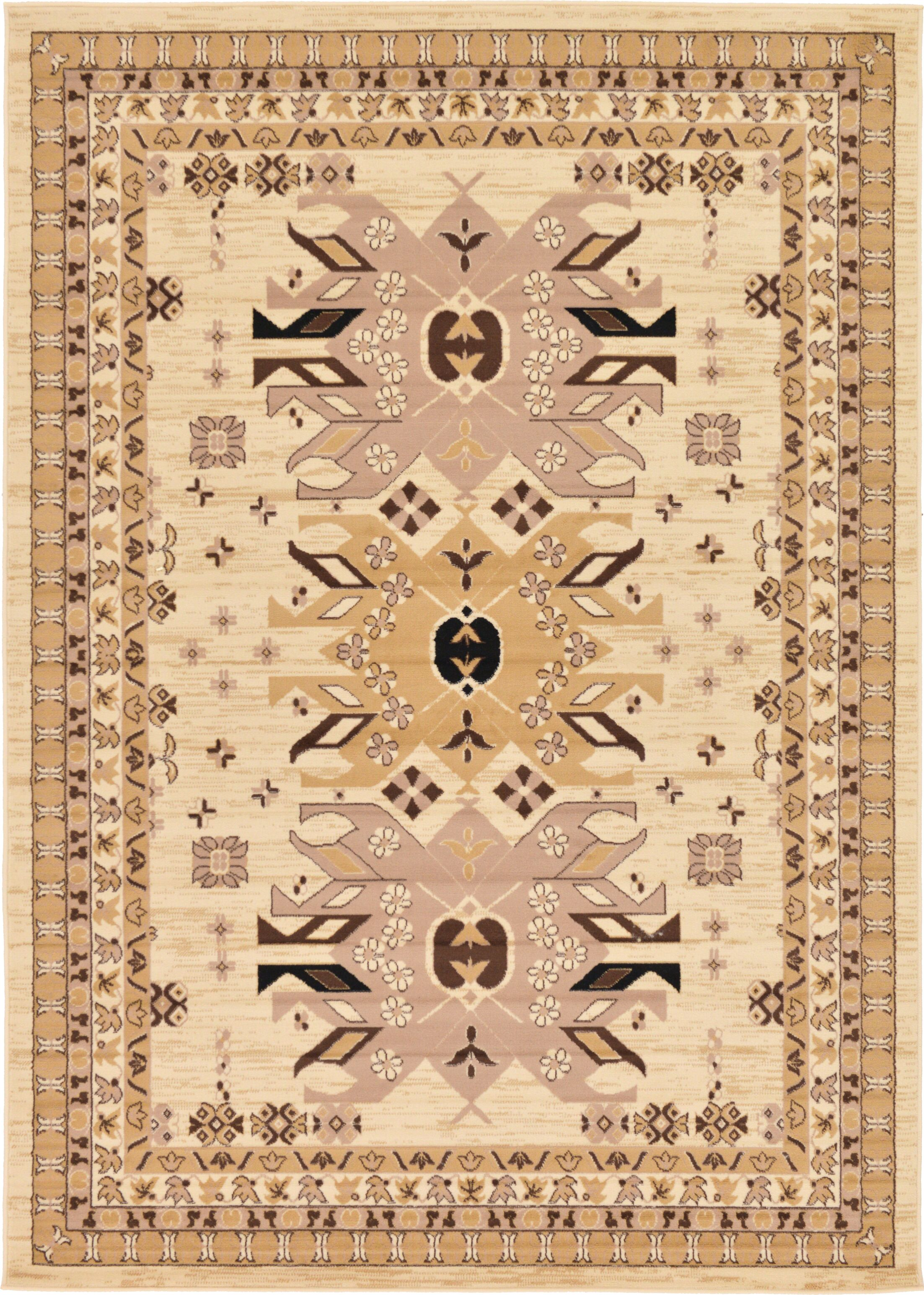Valley Ivory/Beige Area Rug Rug Size: Rectangle 7' x 10'