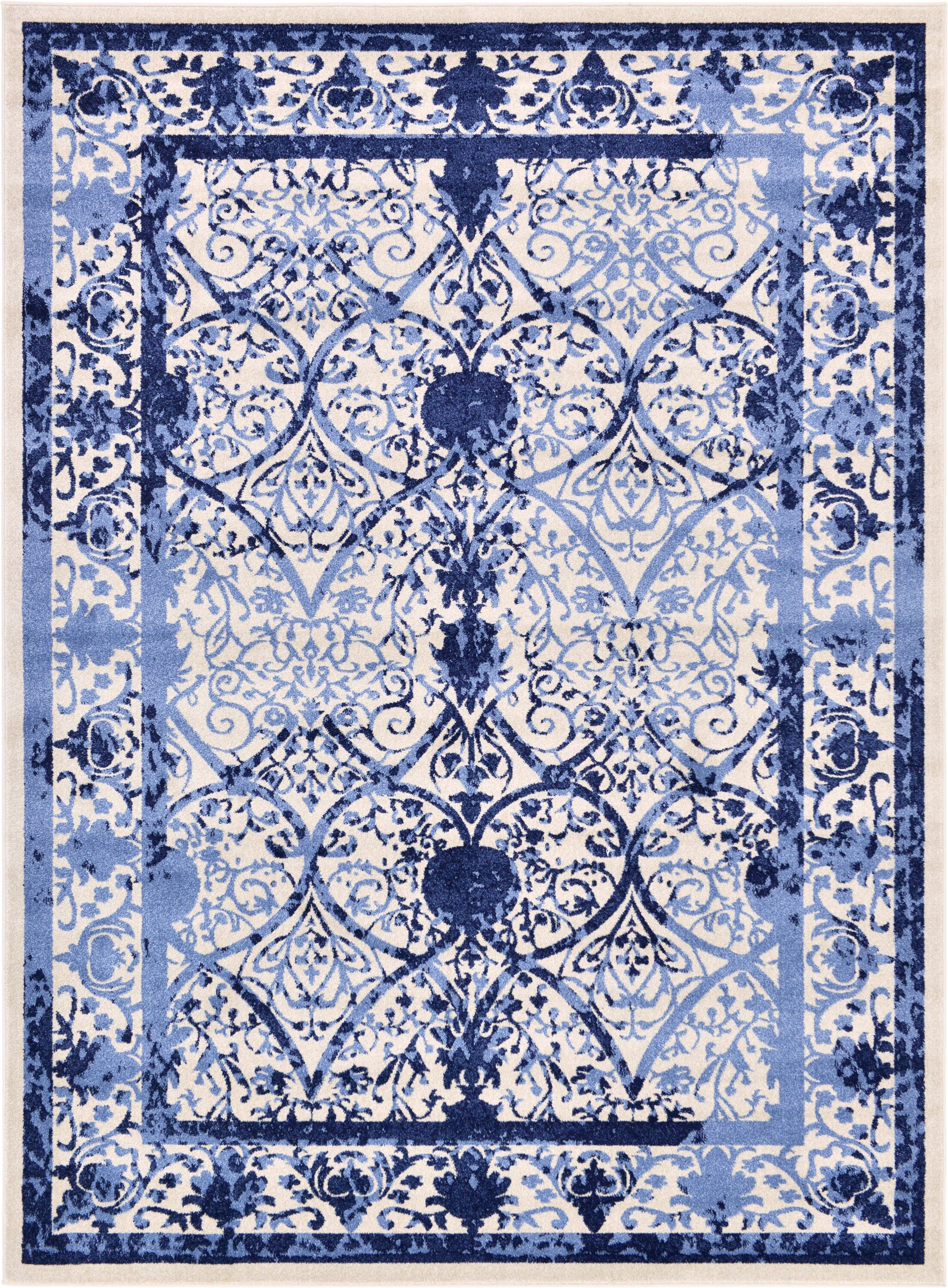 Shailene Blue Area Rug Rug Size: Rectangle 8' x 11'