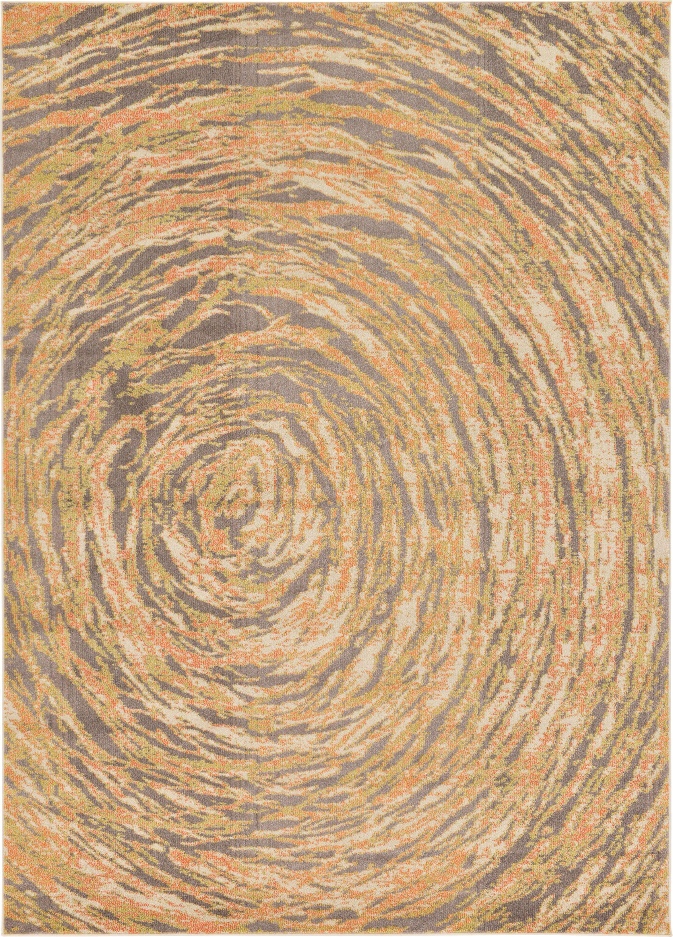 Fujii Orange Area Rug Rug Size: Rectangle 5' x 8'