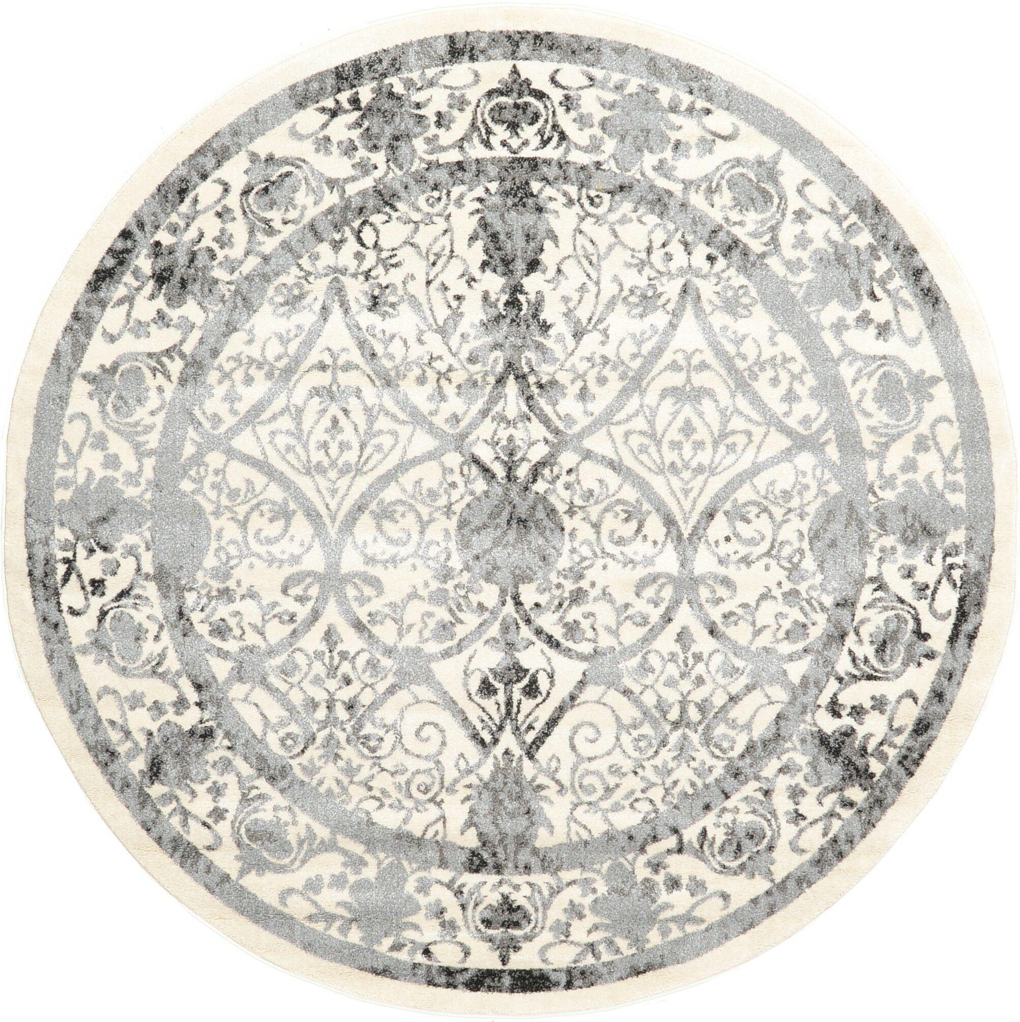 Shailene Ivory Area Rug Rug Size: Round 6'