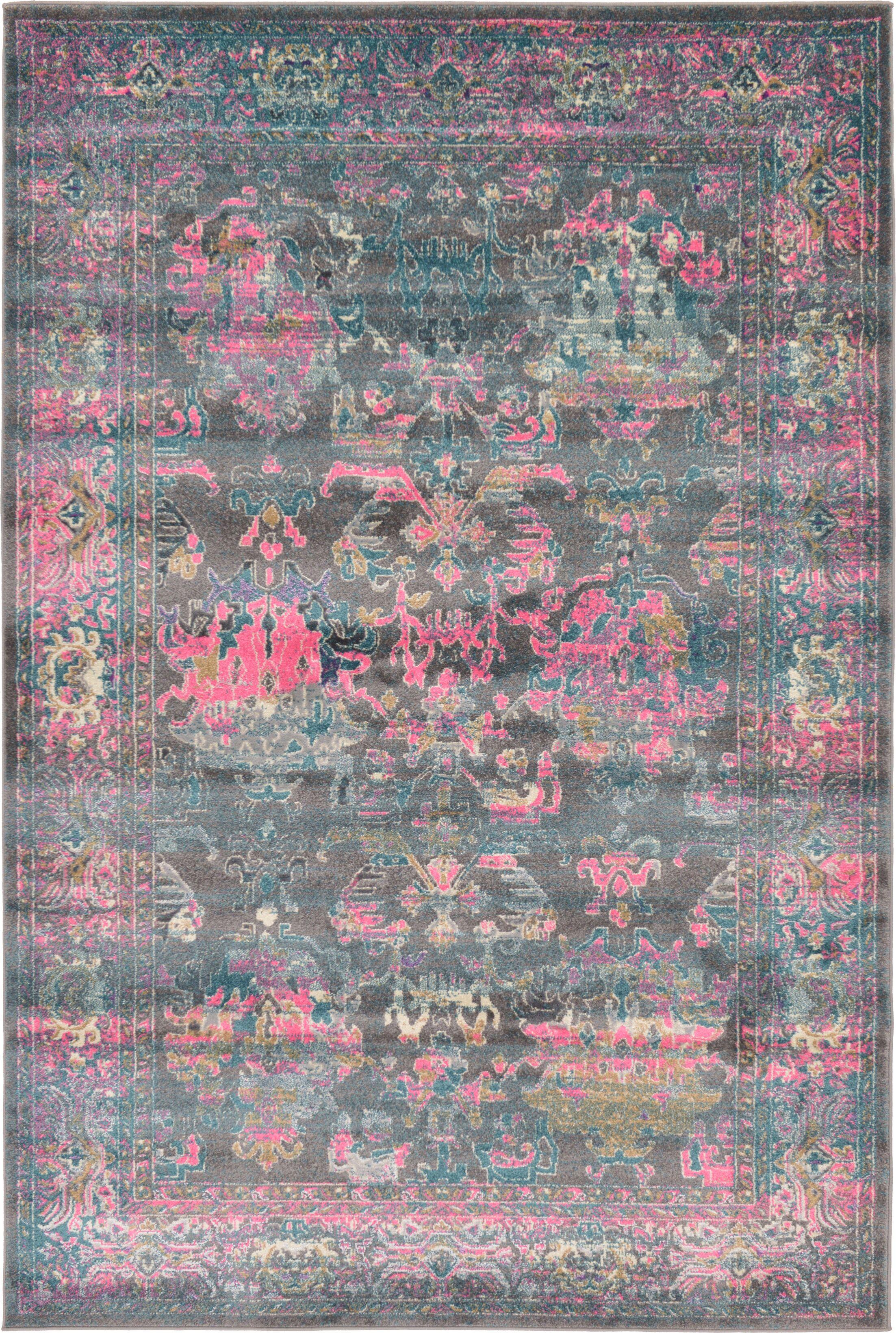 Charlena Gray Area Rug Rug Size: Rectangle 6' x 9'