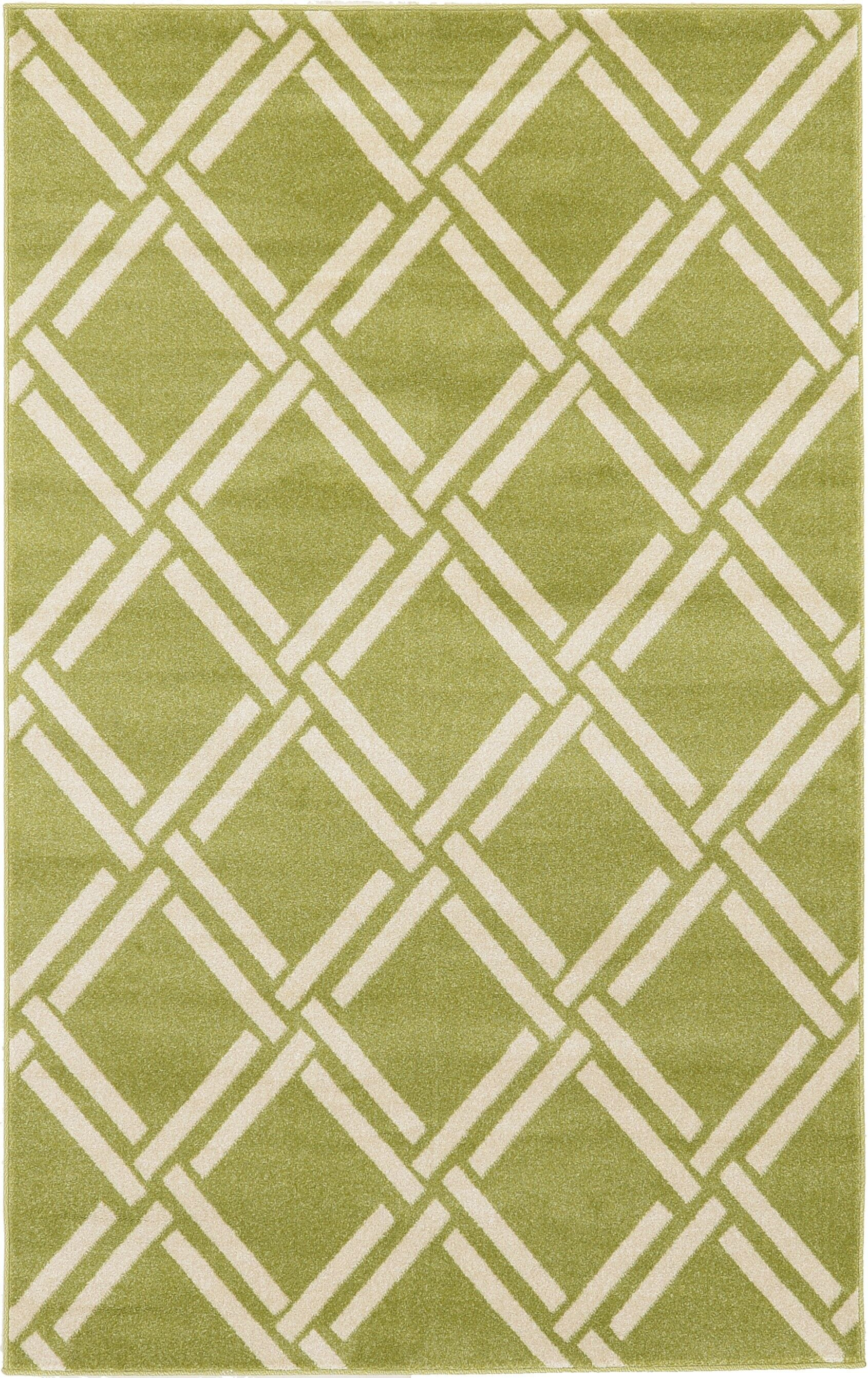 Storyvale Green Area Rug Rug Size: Rectangle 5' x 8'