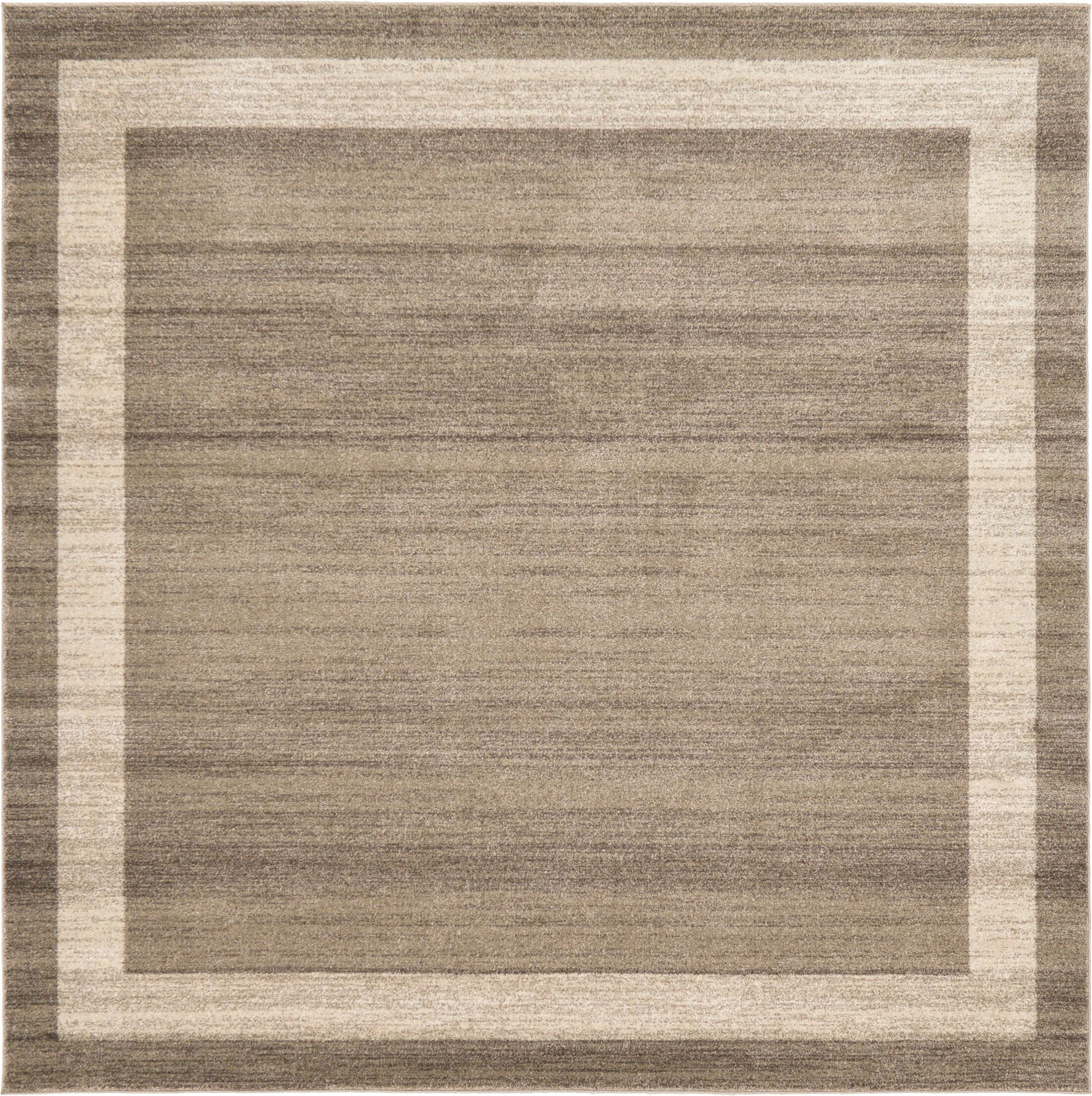 Christi Brown/Beige Area Rug Rug Size: Square 8'