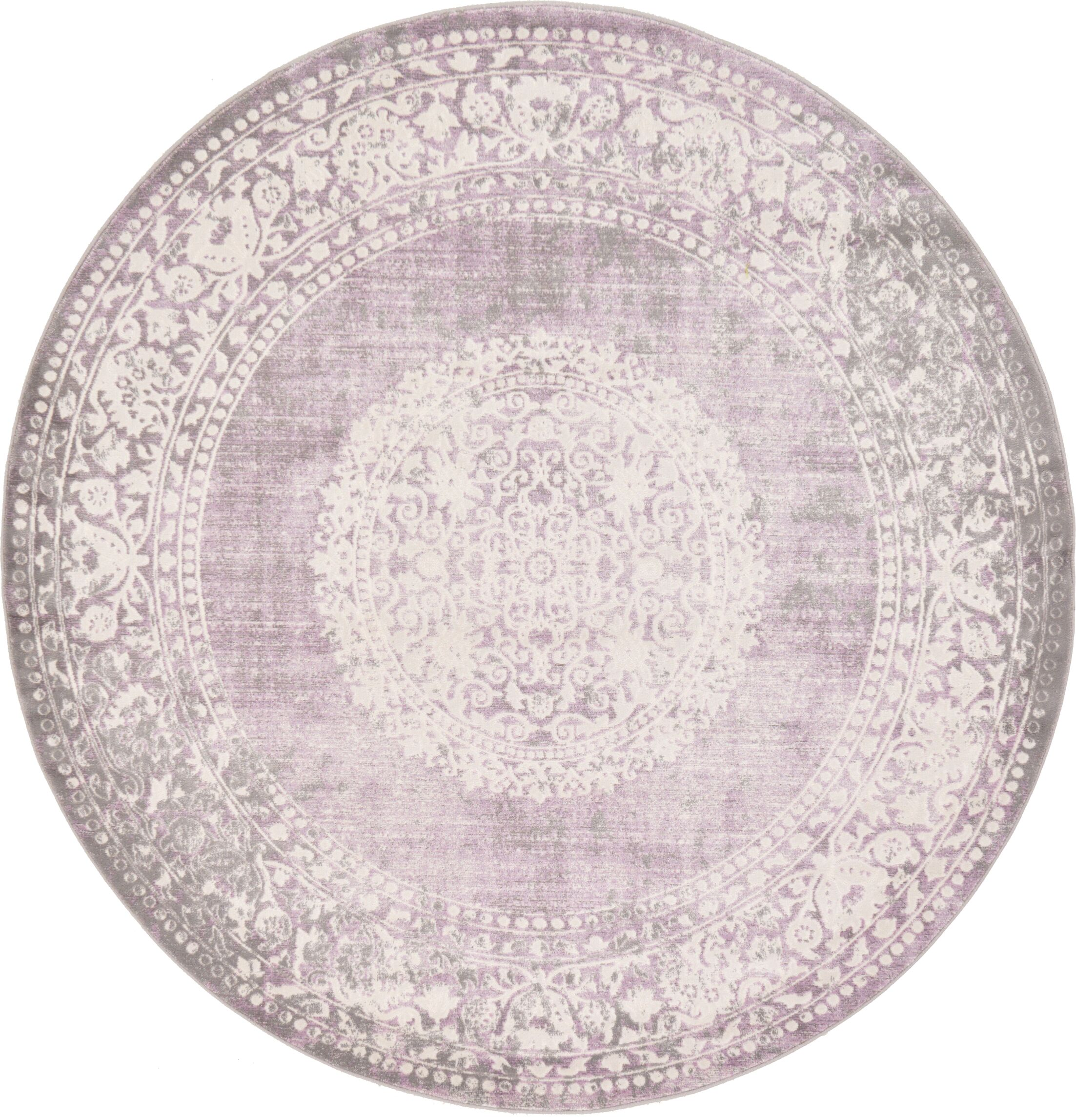 Bryant Green/Ivory Area Rug Rug Size: Round 6'