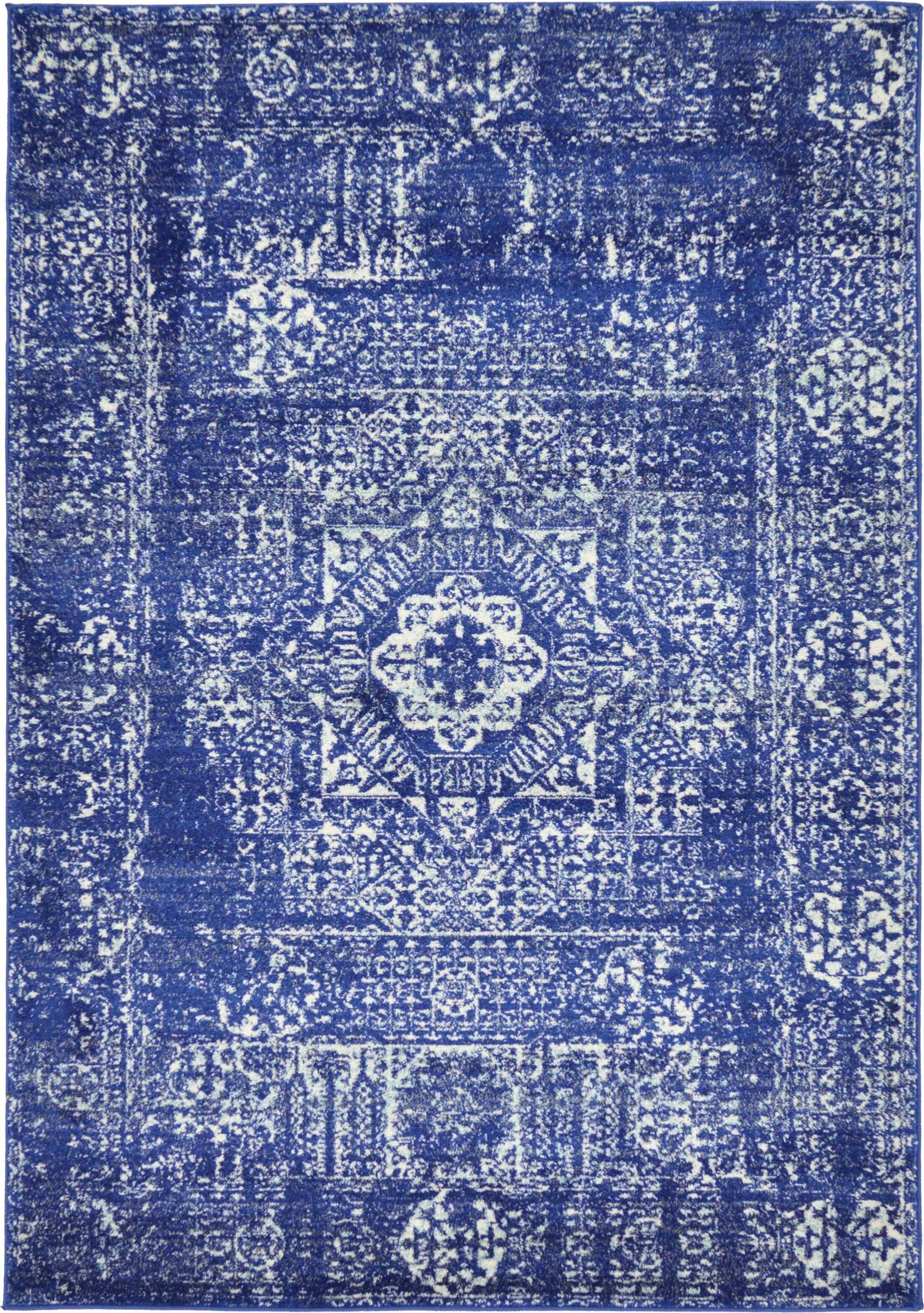 Ove Blue Area Rug Rug Size: Rectangle 4' x 6'