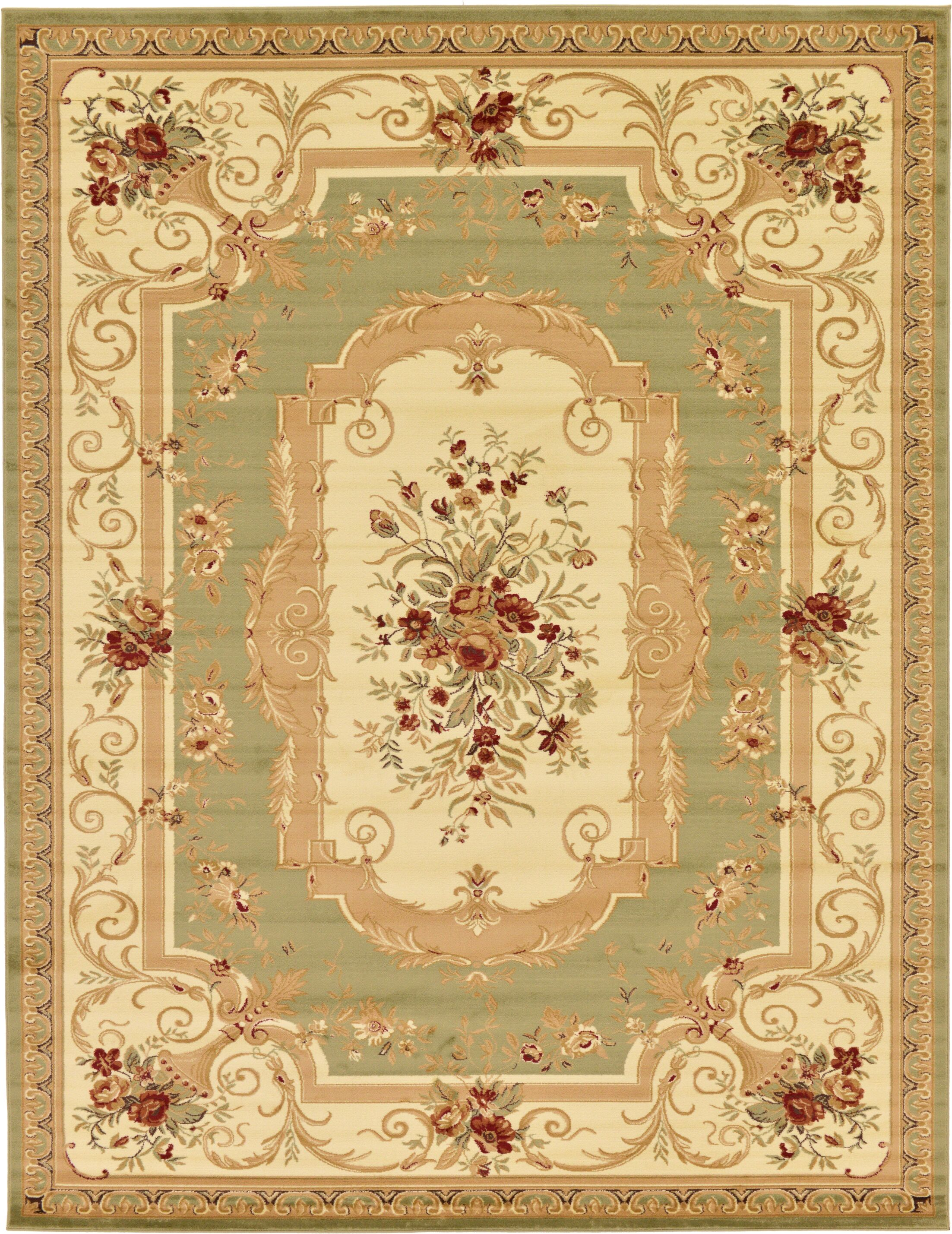 Patton Green Area Rug Rug Size: Rectangle 10' x 13'