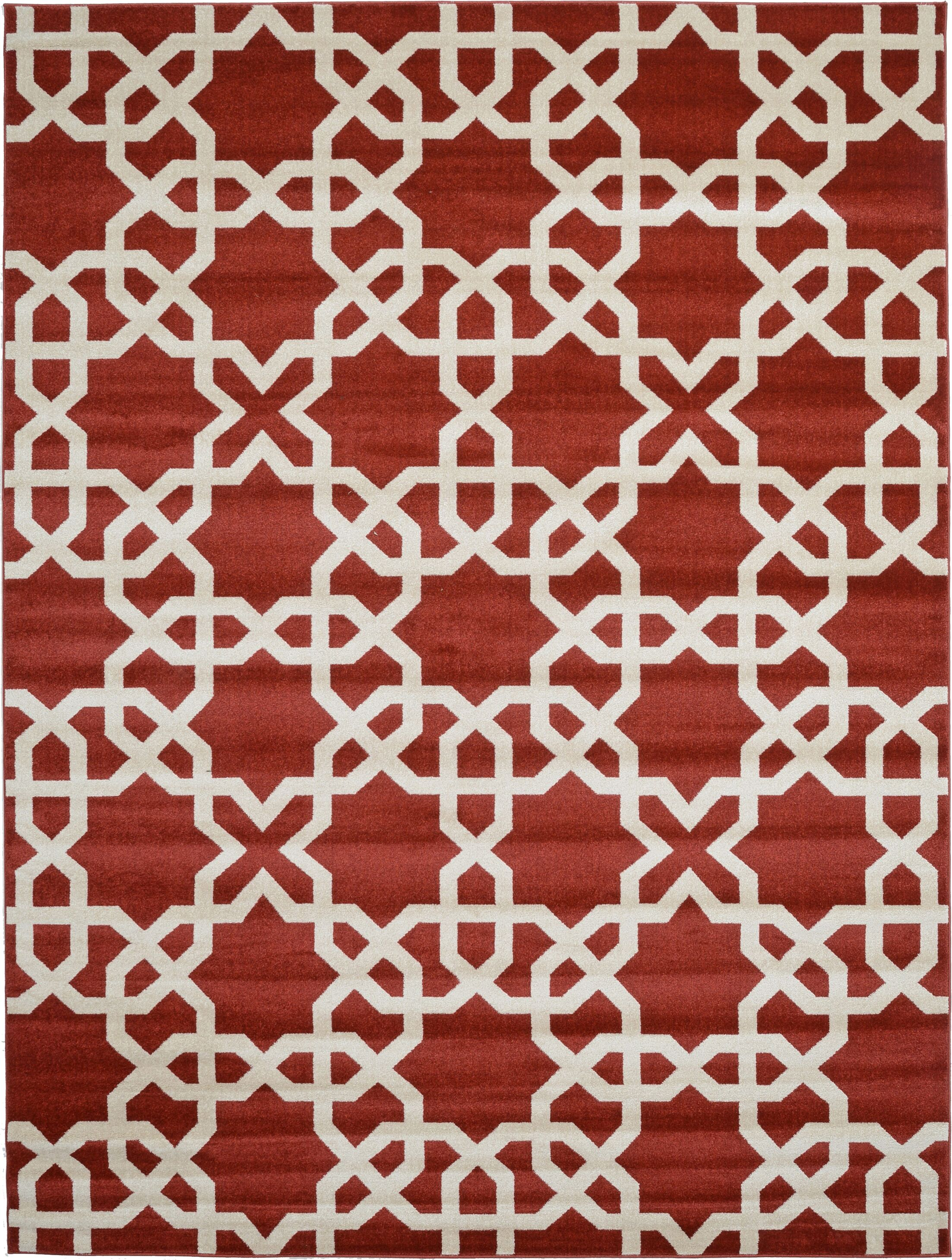 Moore Dark Terracotta Area Rug Rug Size: Rectangle 9' x 12'