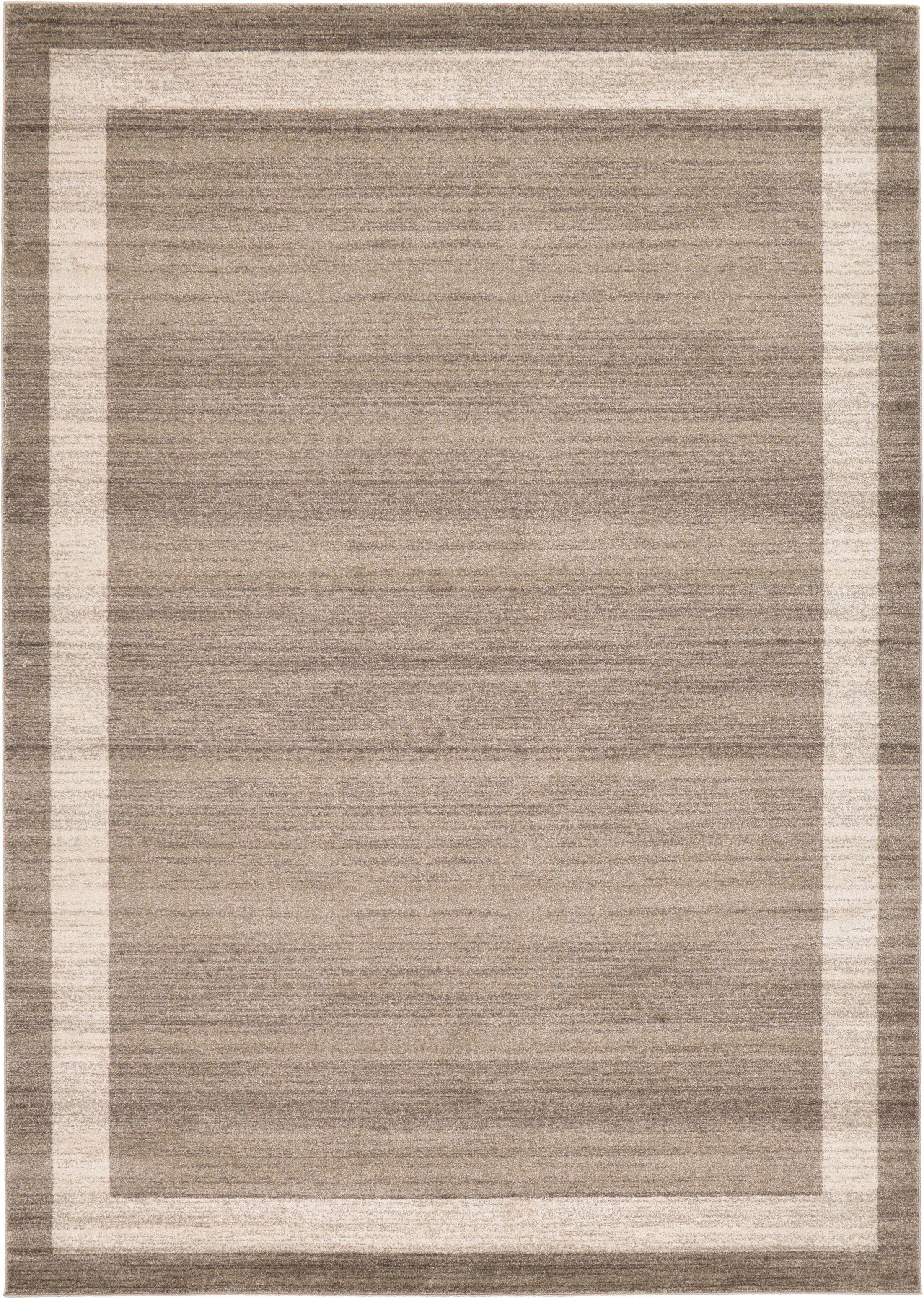 Christi Brown/Beige Area Rug Rug Size: Rectangle 8' x 11