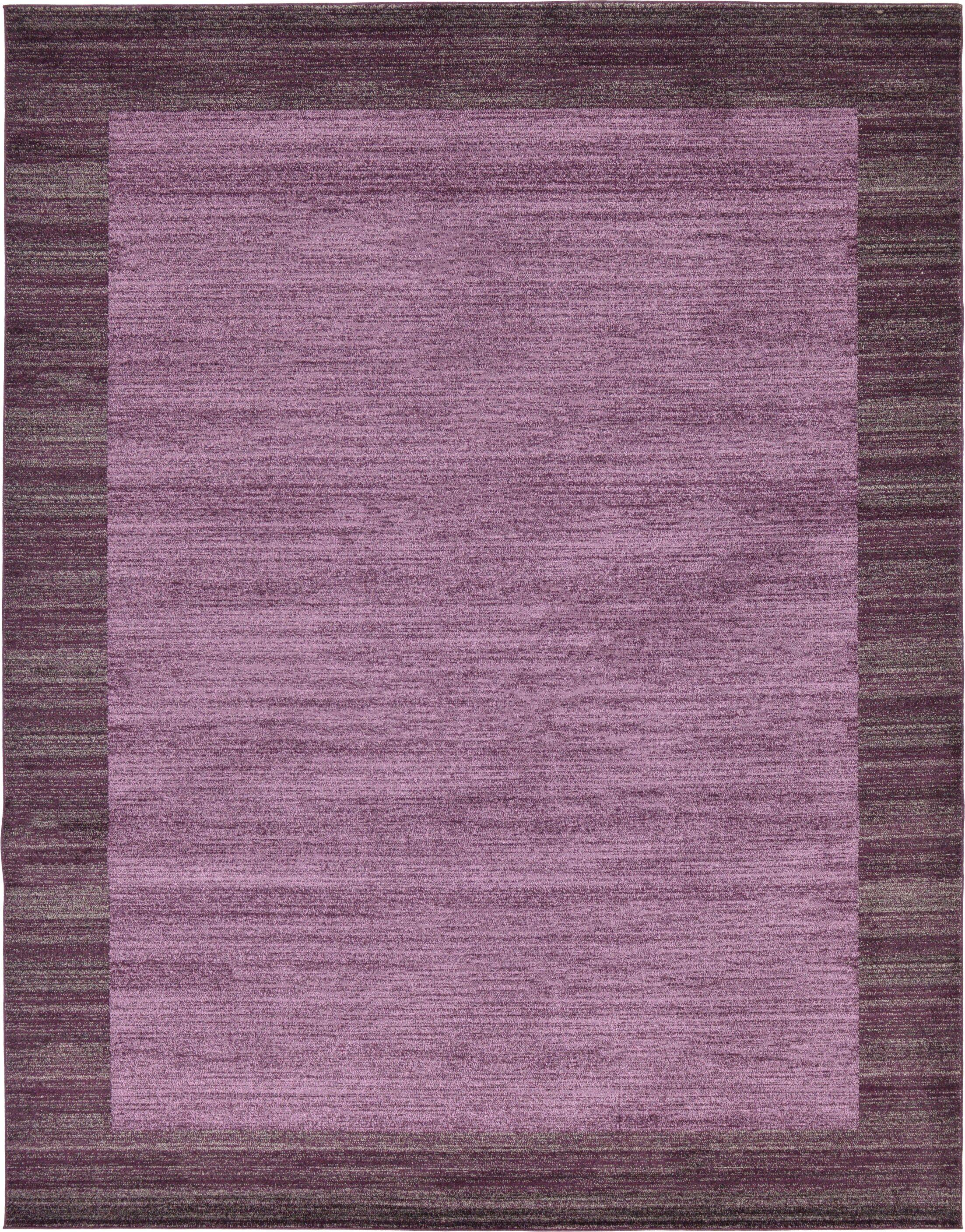 Christi Purple Color Bordered Area Rug Rug Size: Rectangle 10' x 13'