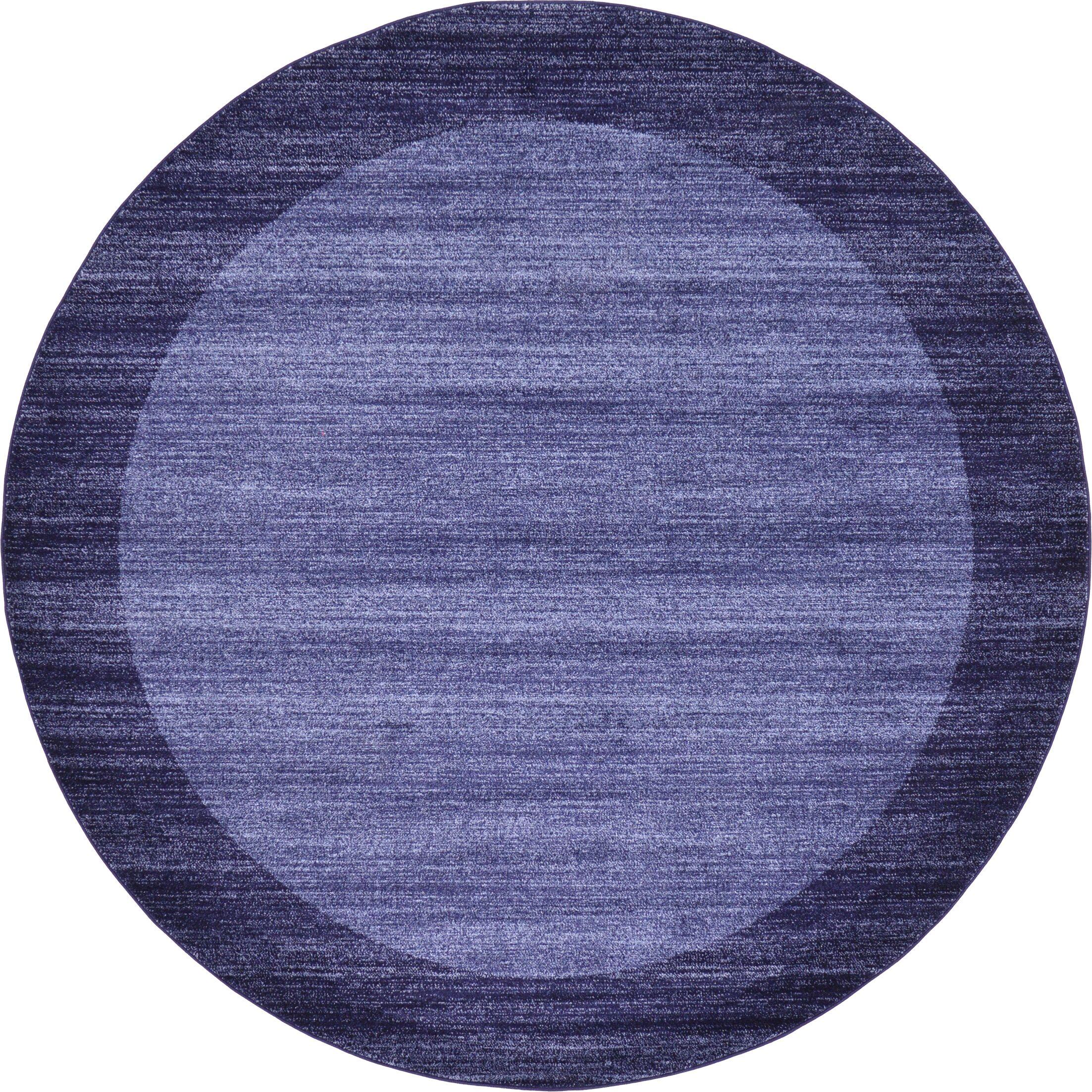 Christi Blue Area Rug Rug Size: Round 8'