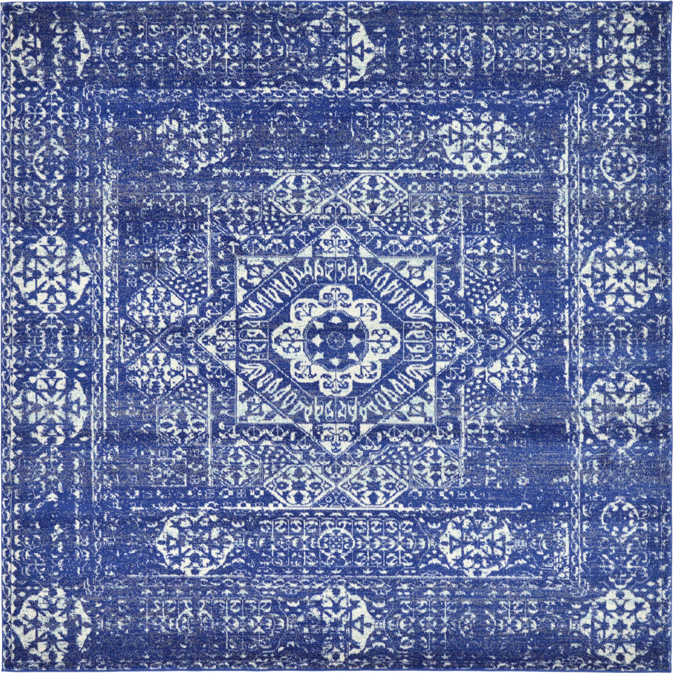 Ove Blue Area Rug Rug Size: Square 8'4