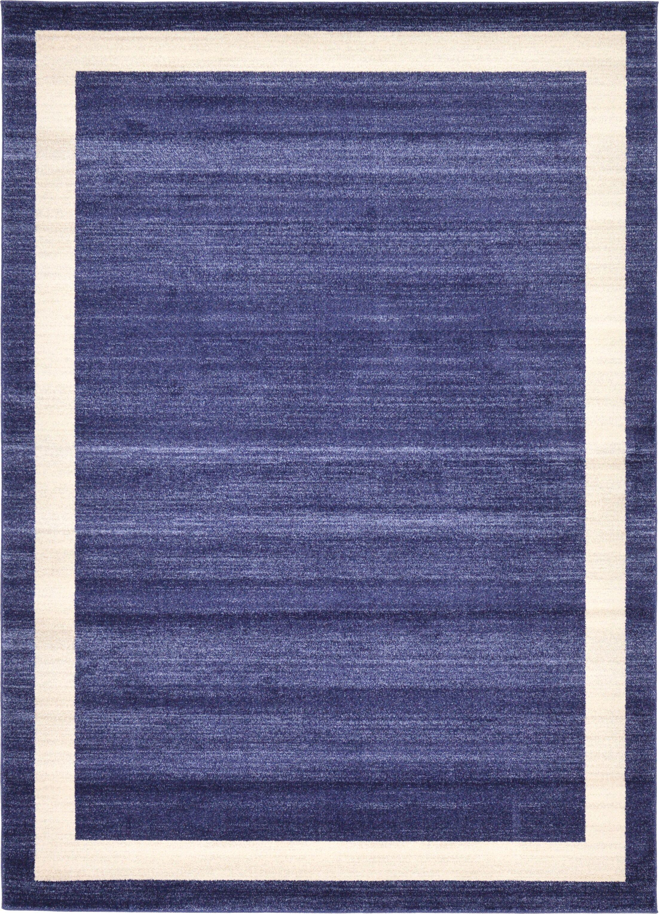 Christi Blue/Beige Area Rug Rug Size: Rectangle 6' x 9'