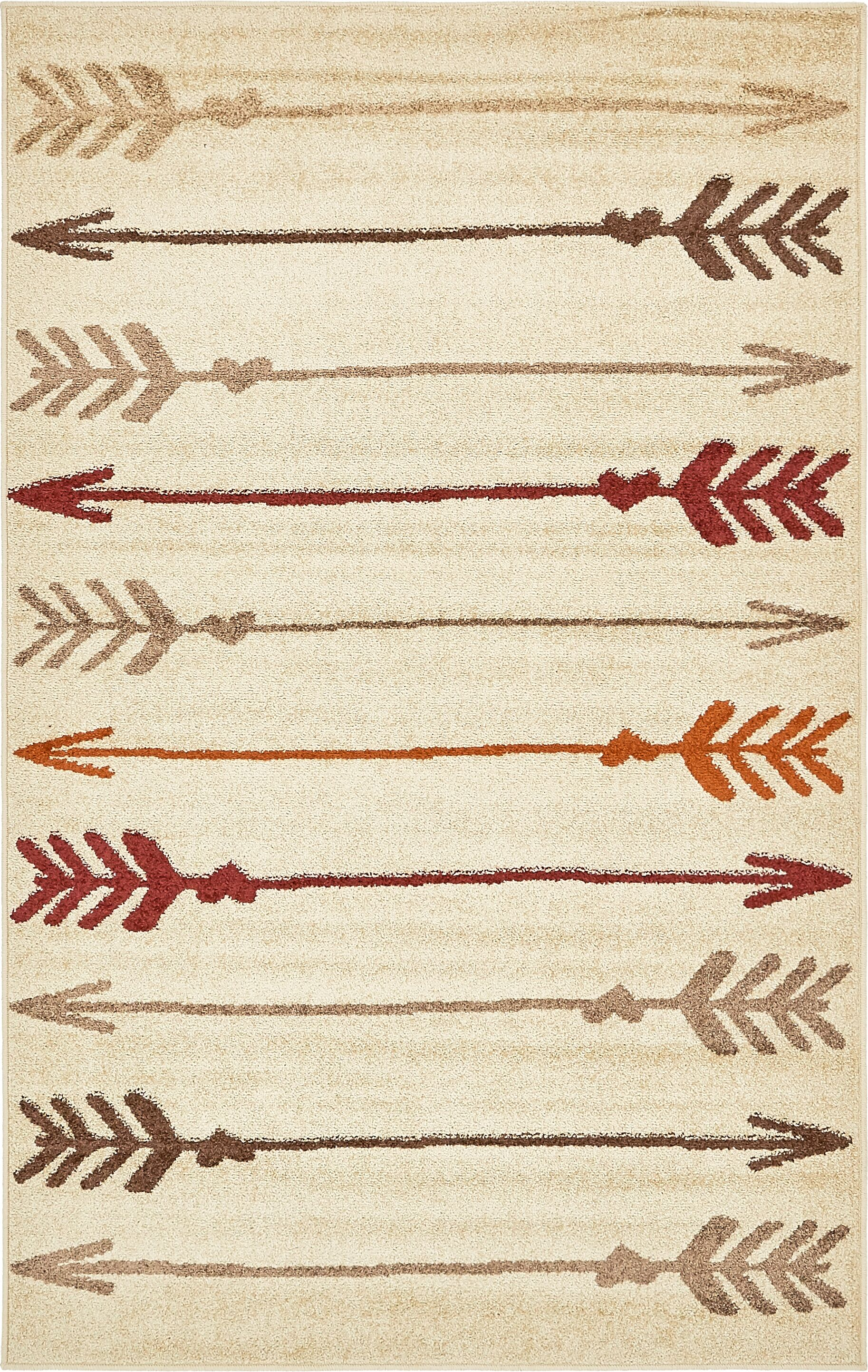 Picabo Beige Area Rug Rug Size: Rectangle 5' x 8'