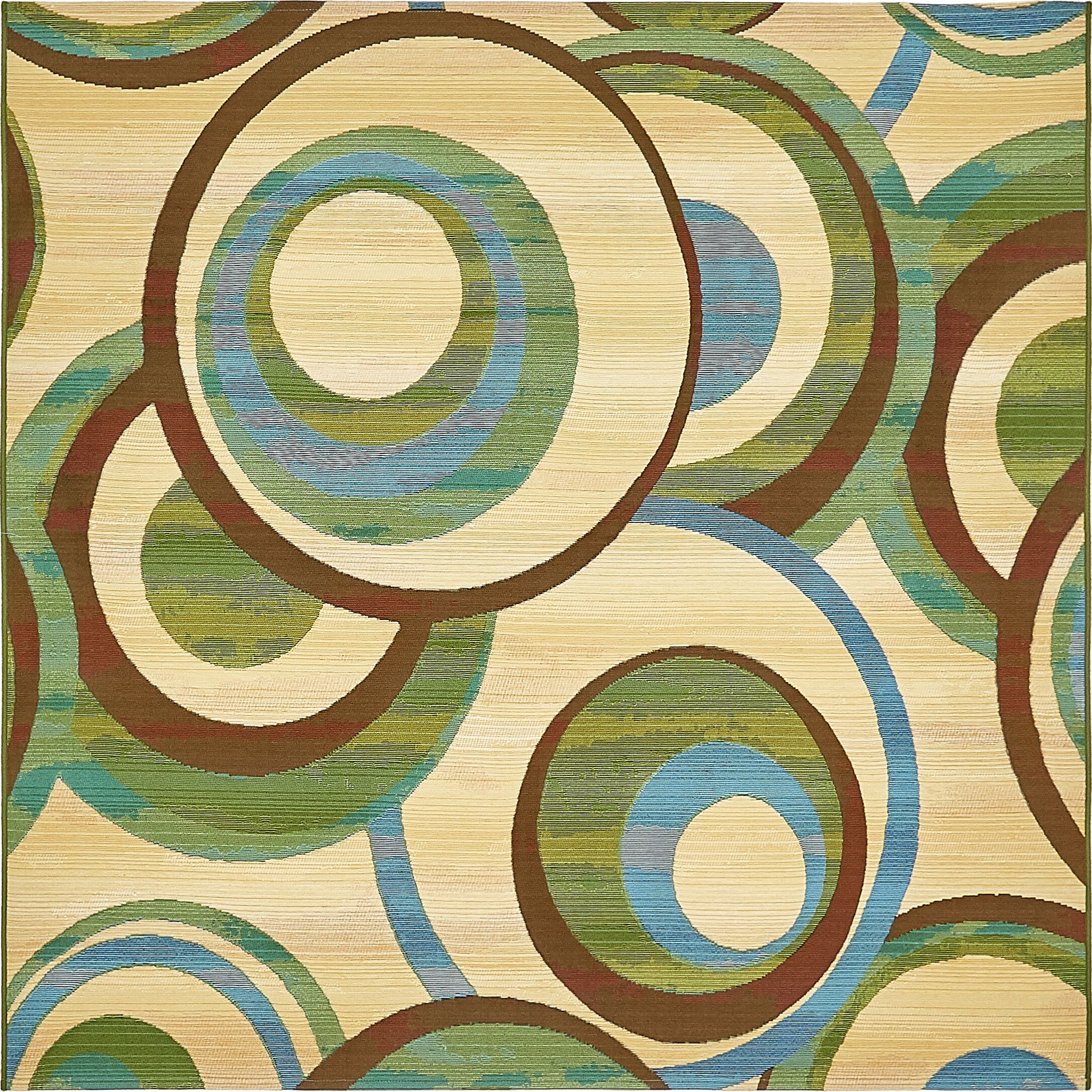 Skylar Beige Indoor/ Outdoor Area Rug Rug Size: Square 6'