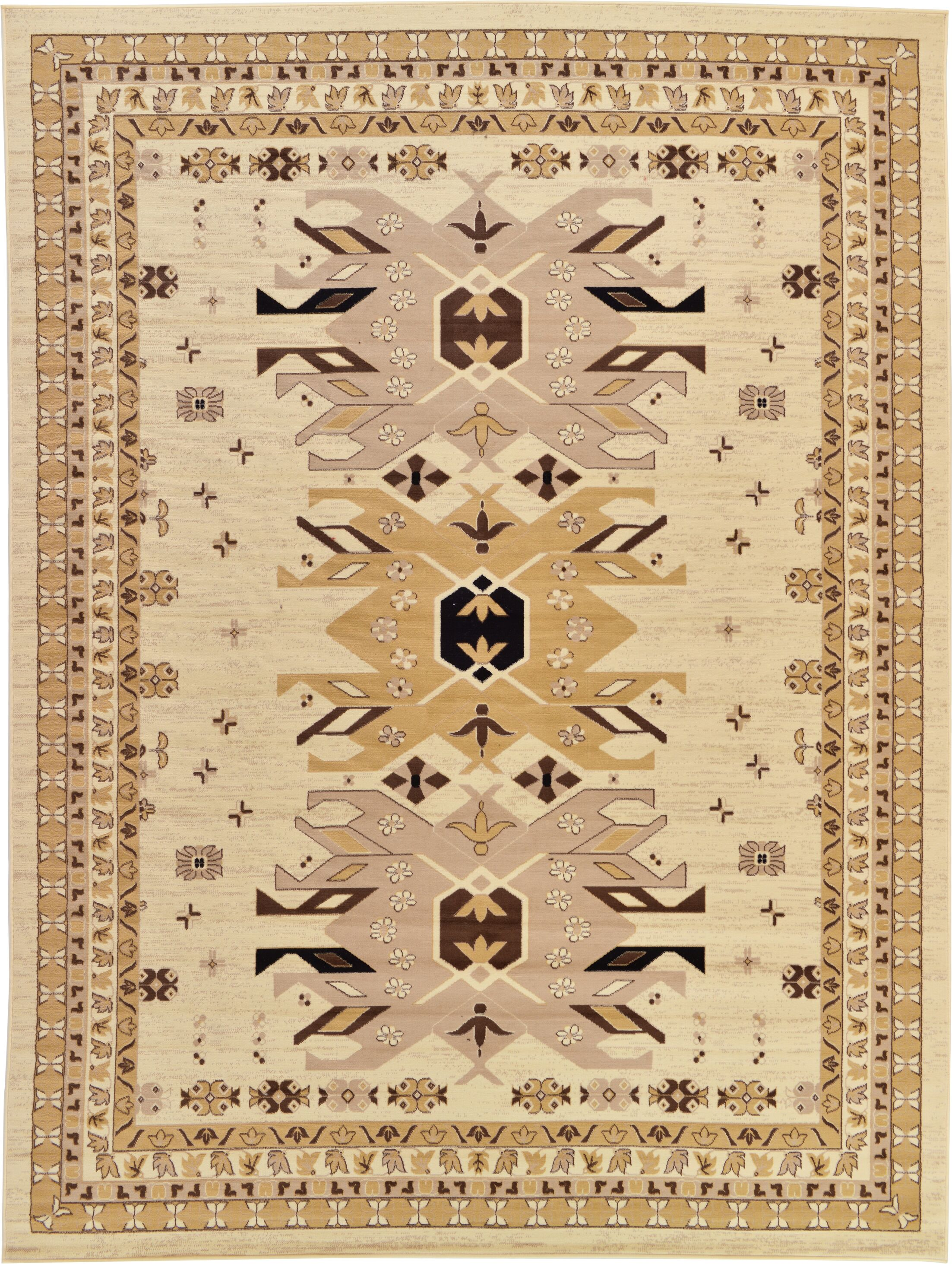 Valley Ivory/Beige Area Rug Rug Size: Rectangle 9'10