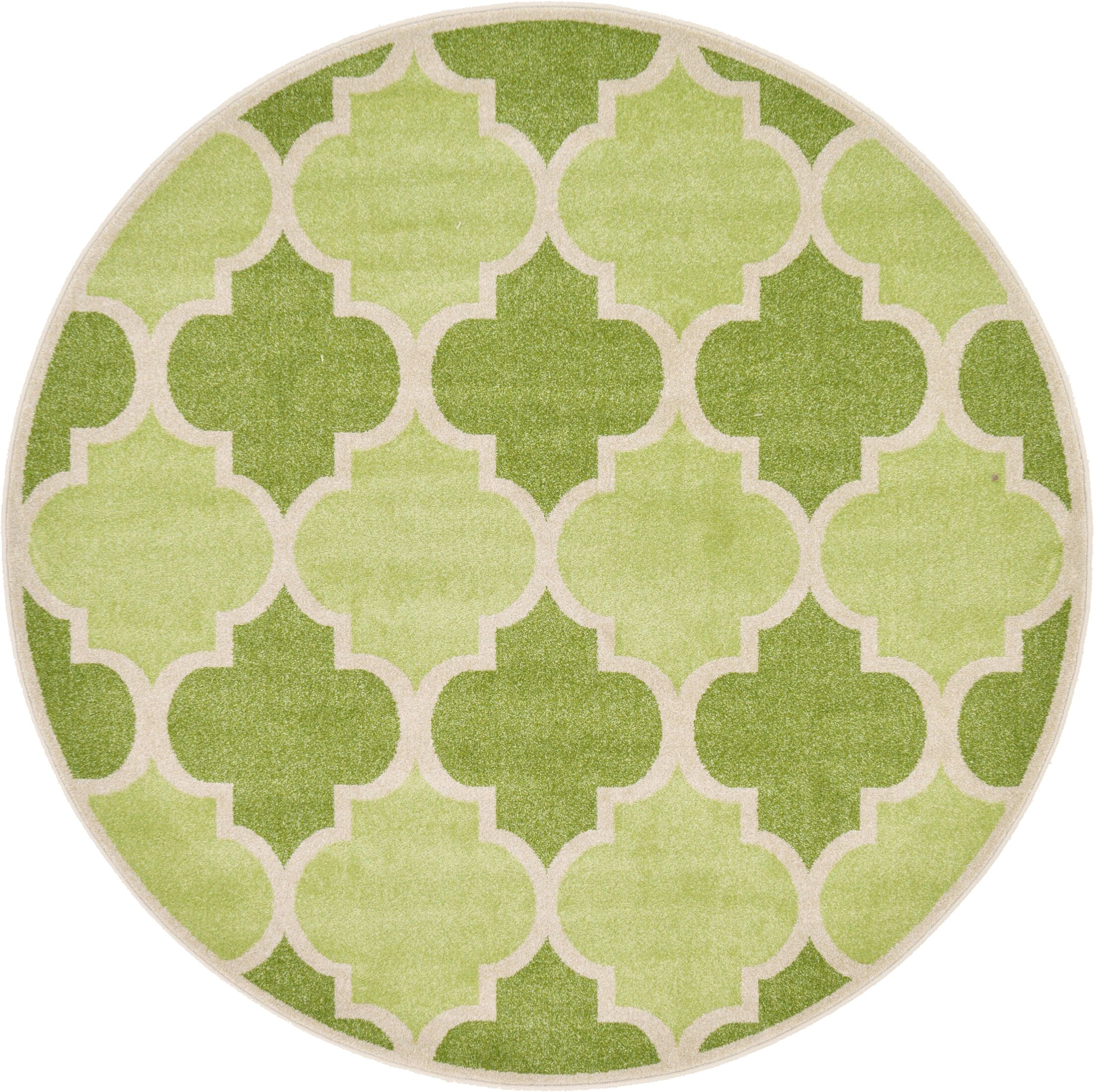 Moore Green Area Rug Rug Size: Round 6'