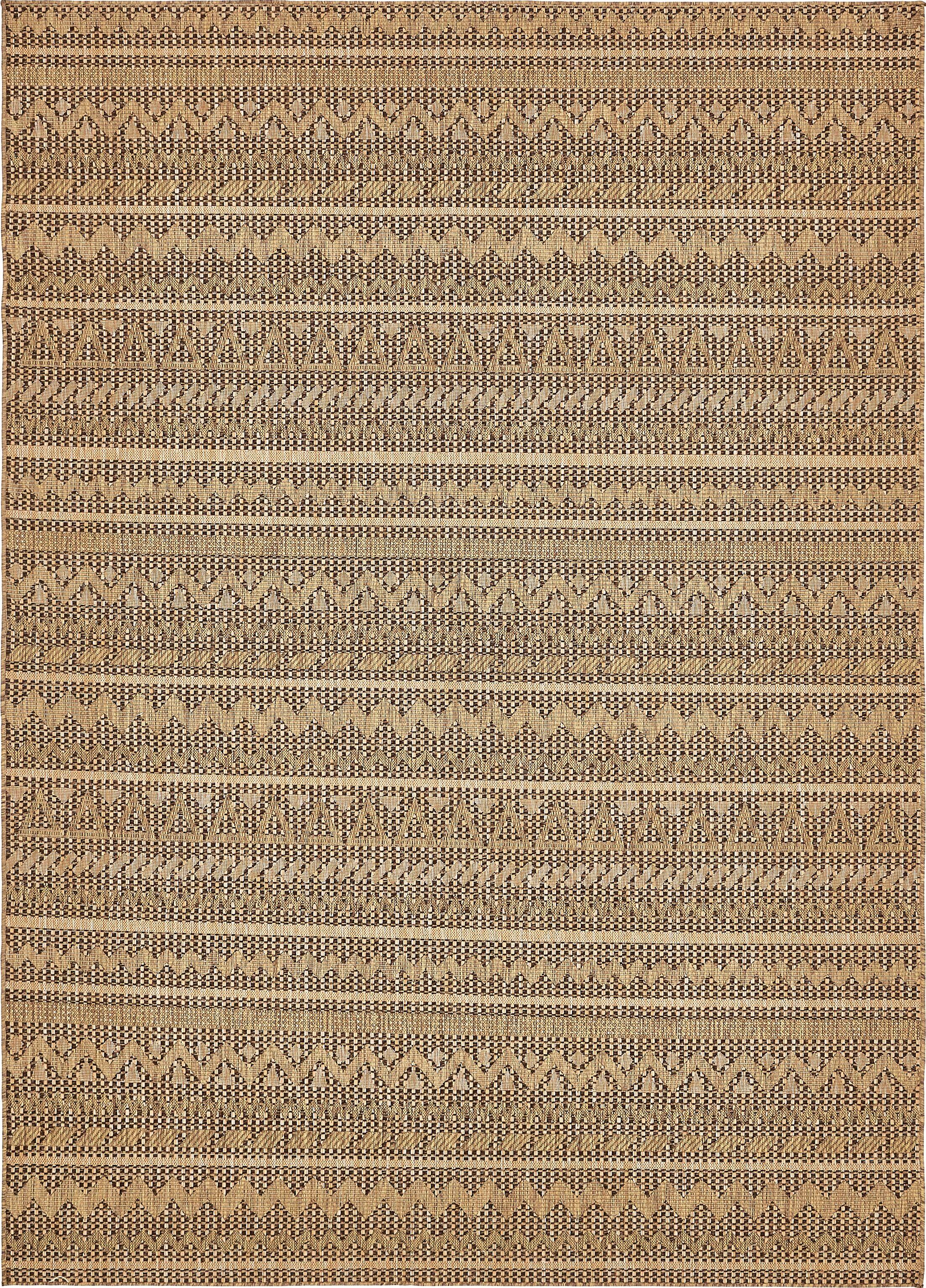 Krystal Light Brown Outdoor Area Rug Rug Size: Rectangle 8' x 11'4