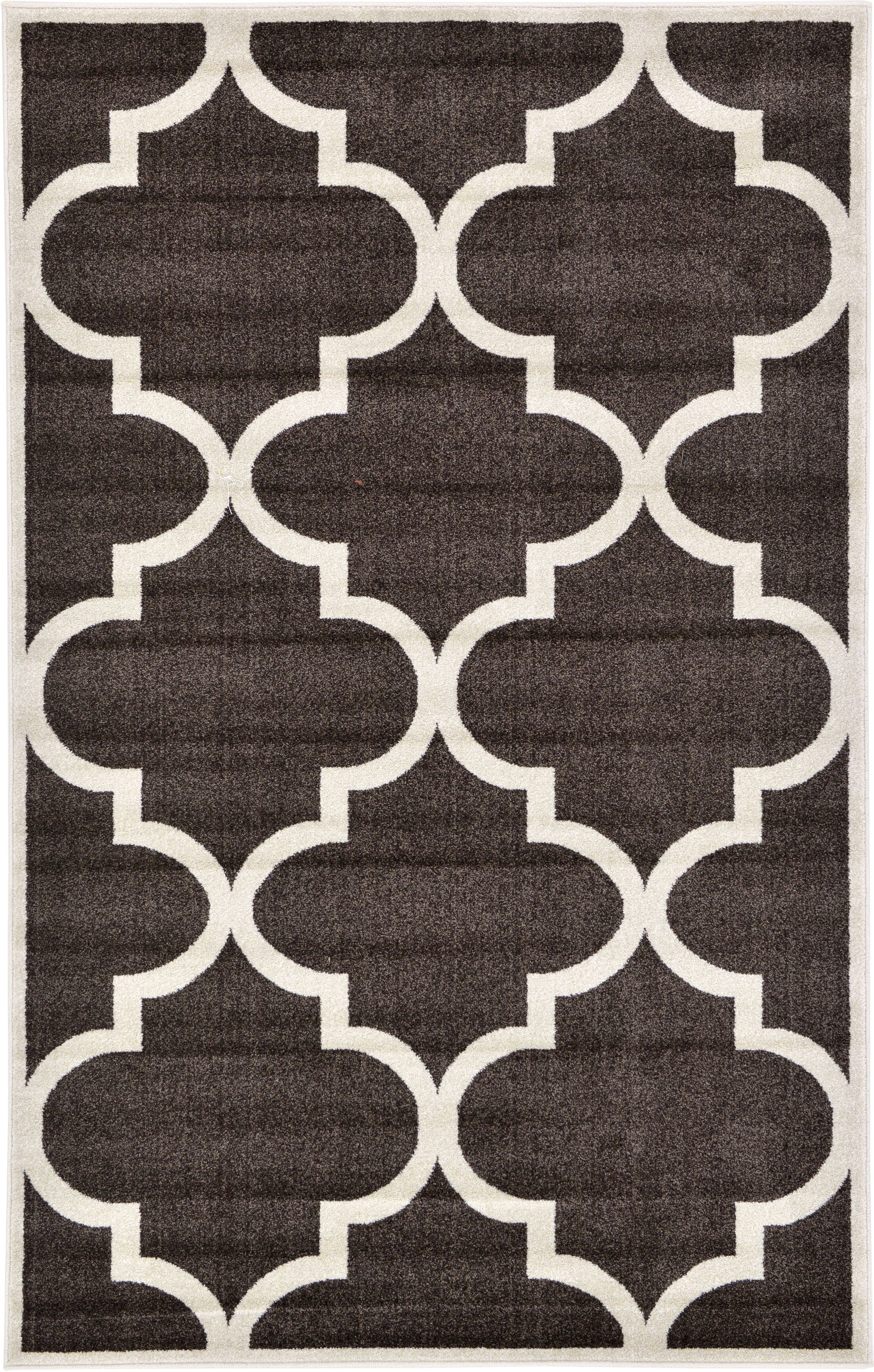 Moore Brown Area Rug Rug Size: Rectangle 5' x 8'