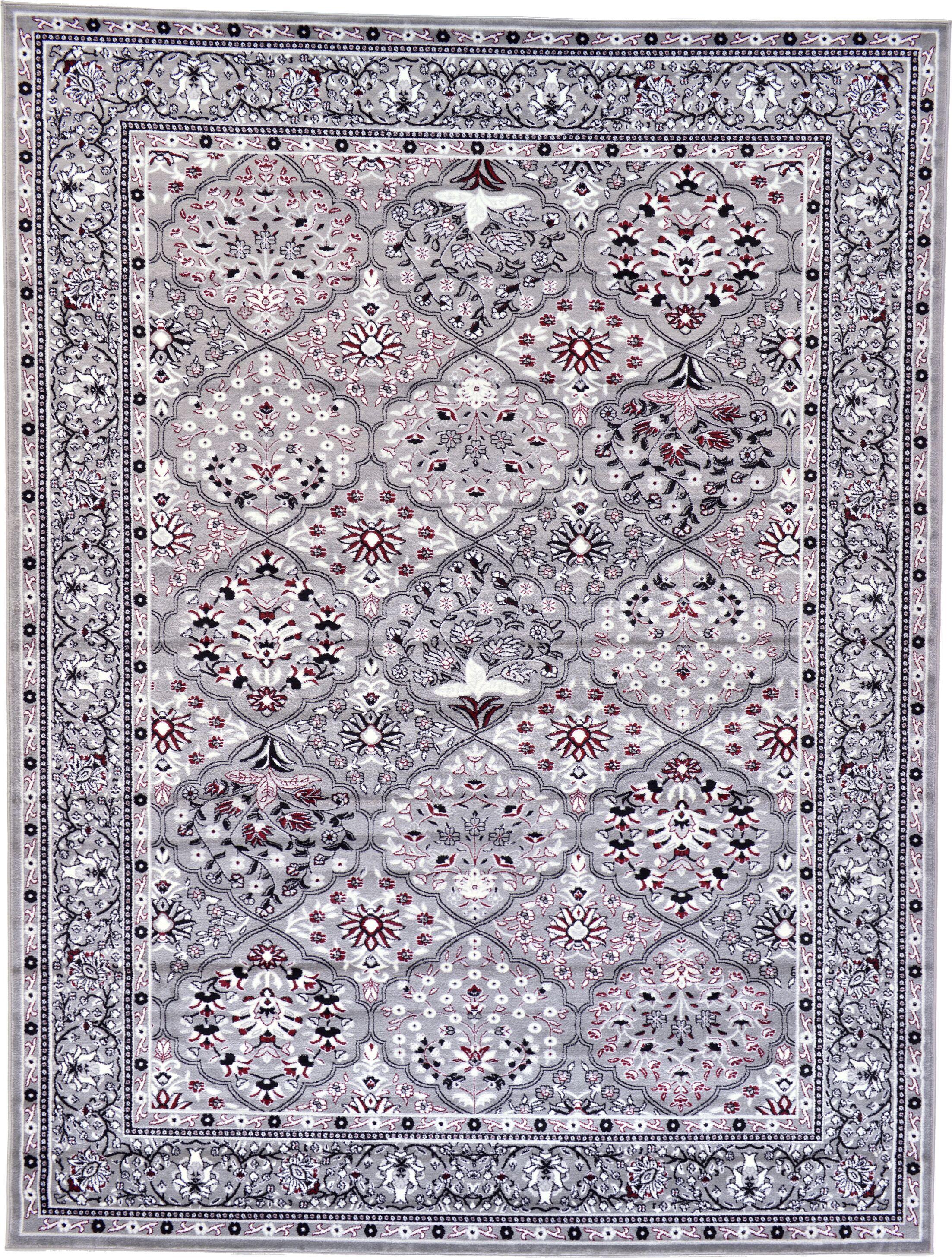 Janiyah Light Gray/Black Area Rug Rug Size: Rectangle 9'10