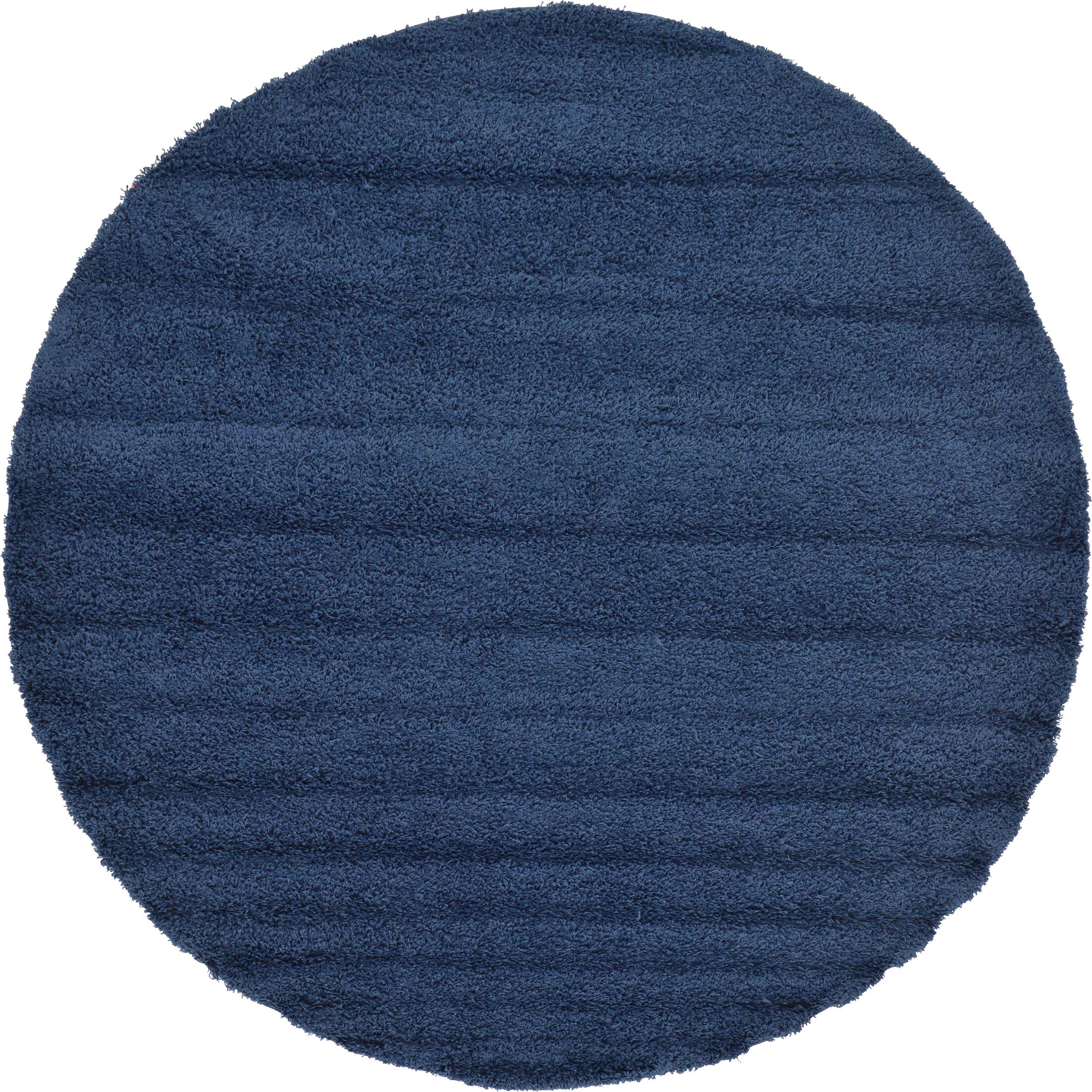 Falmouth Sapphire Area Rug Rug Size: Round 8'2