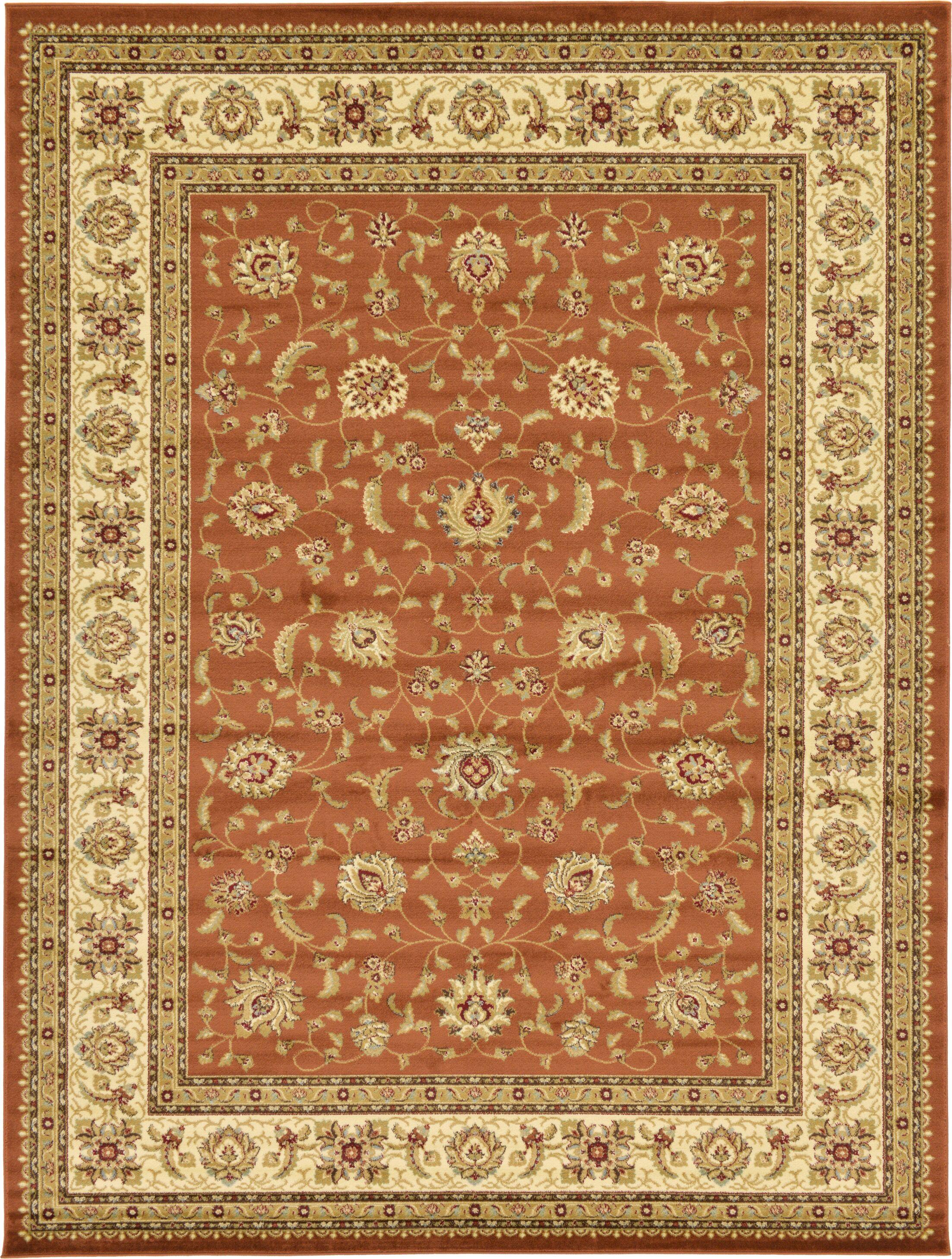 Fairmount Brick Red Oriental Area Rug Rug Size: Rectangle 9' x 12'