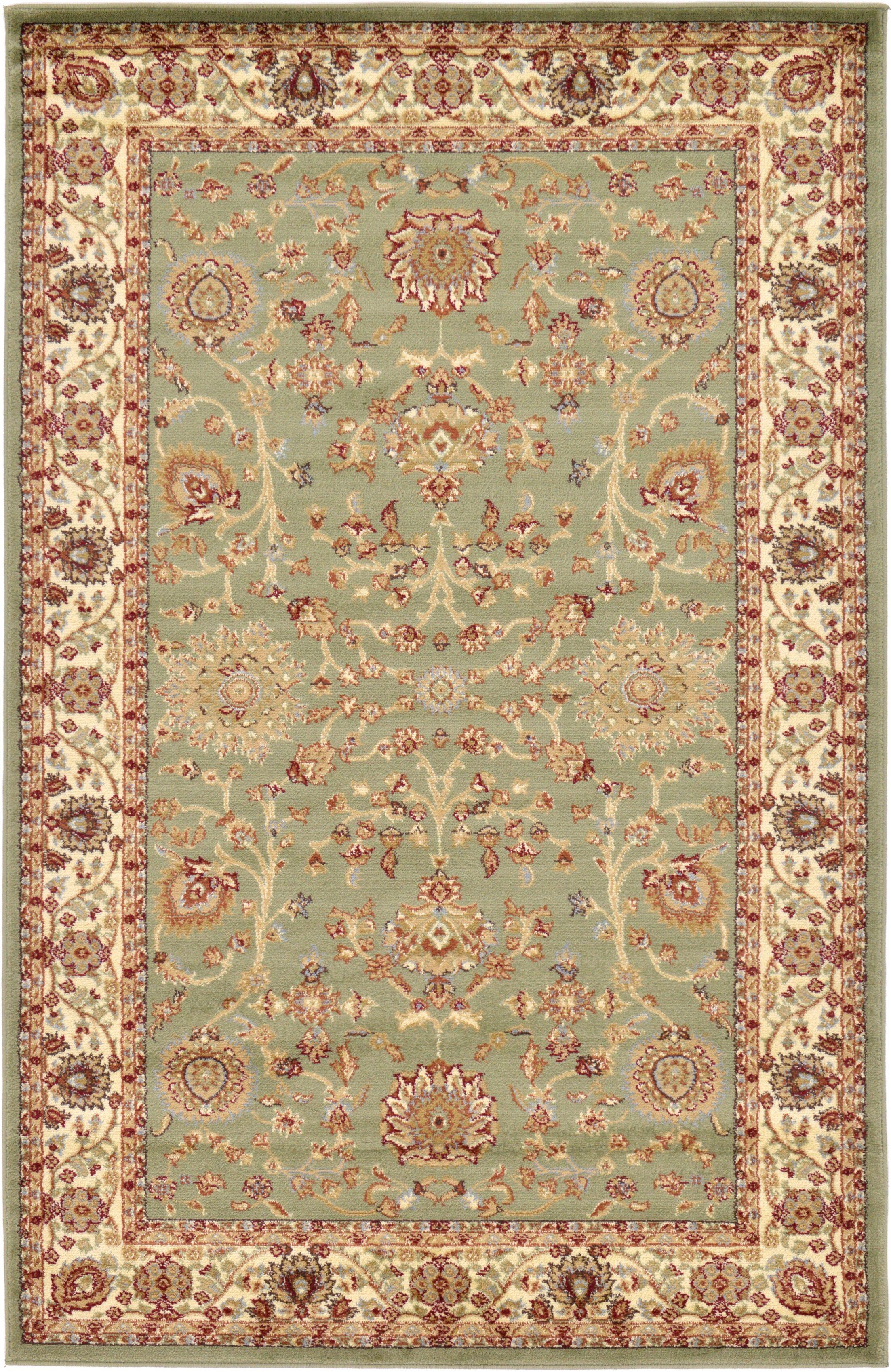 Fairmount Light Green Oriental Area Rug Rug Size: Rectangle 5.1' x 8'
