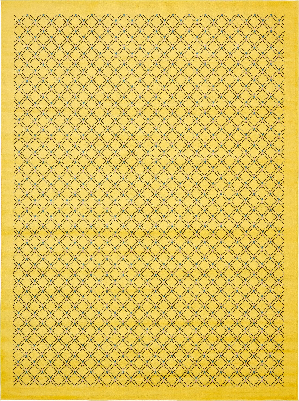 Wanamaker Yellow Area Rug Rug Size: Rectangle 9' x 12'