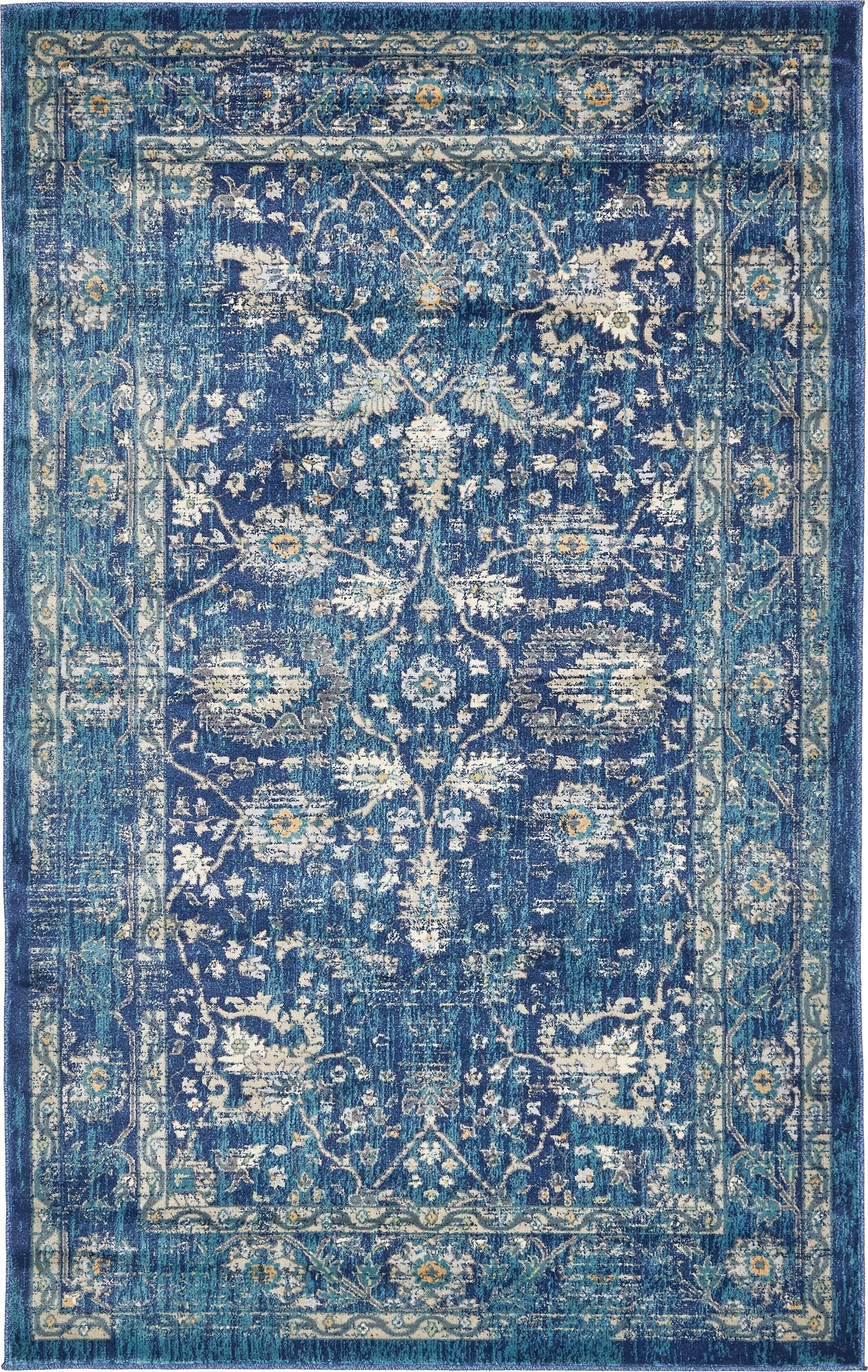 Geleen Navy Blue Indoor Area Rug Rug Size: Rectangle 5' x 8'