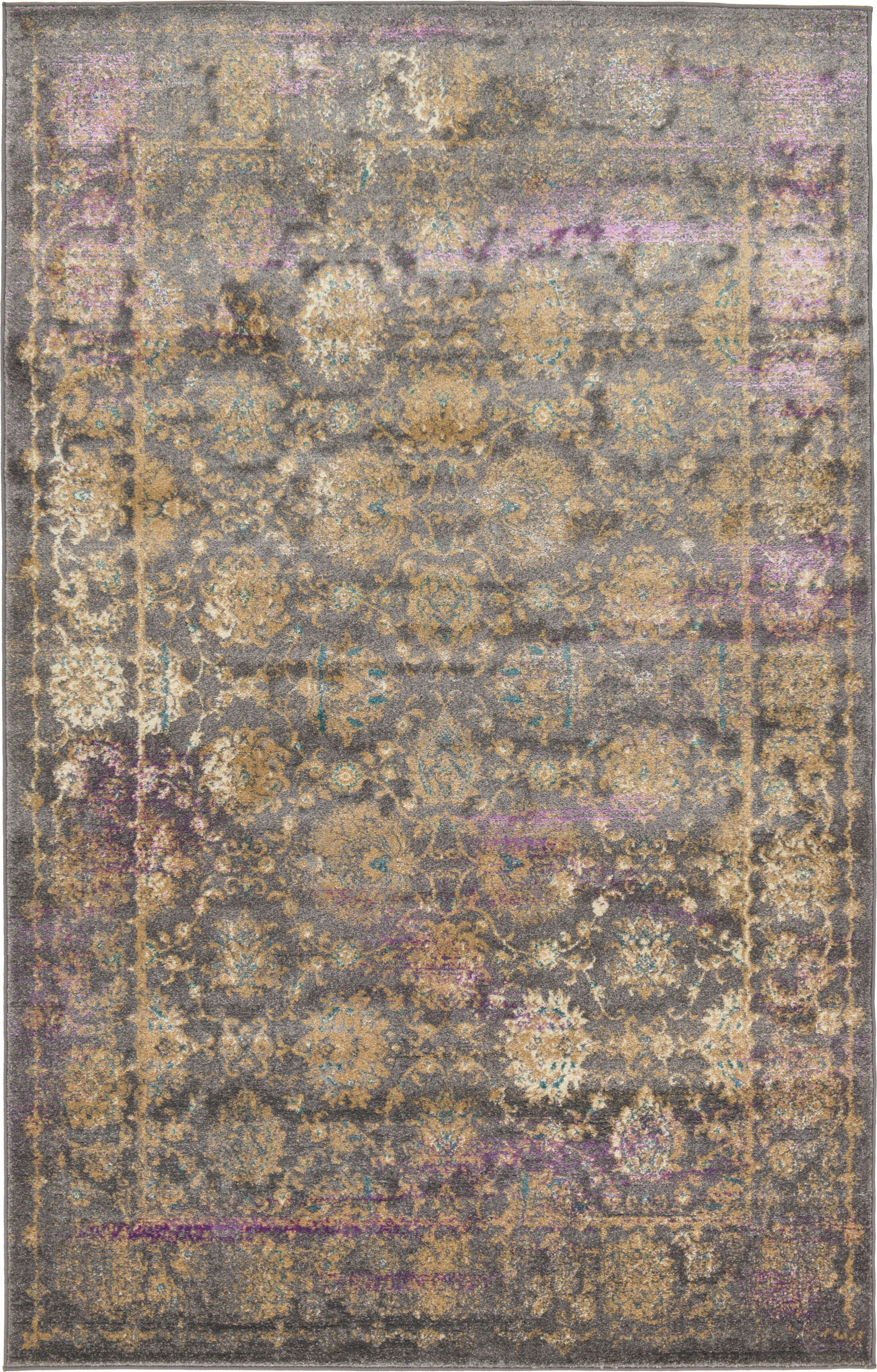 Sepe Gray Area Rug Rug Size: Rectangle 5' x 8'
