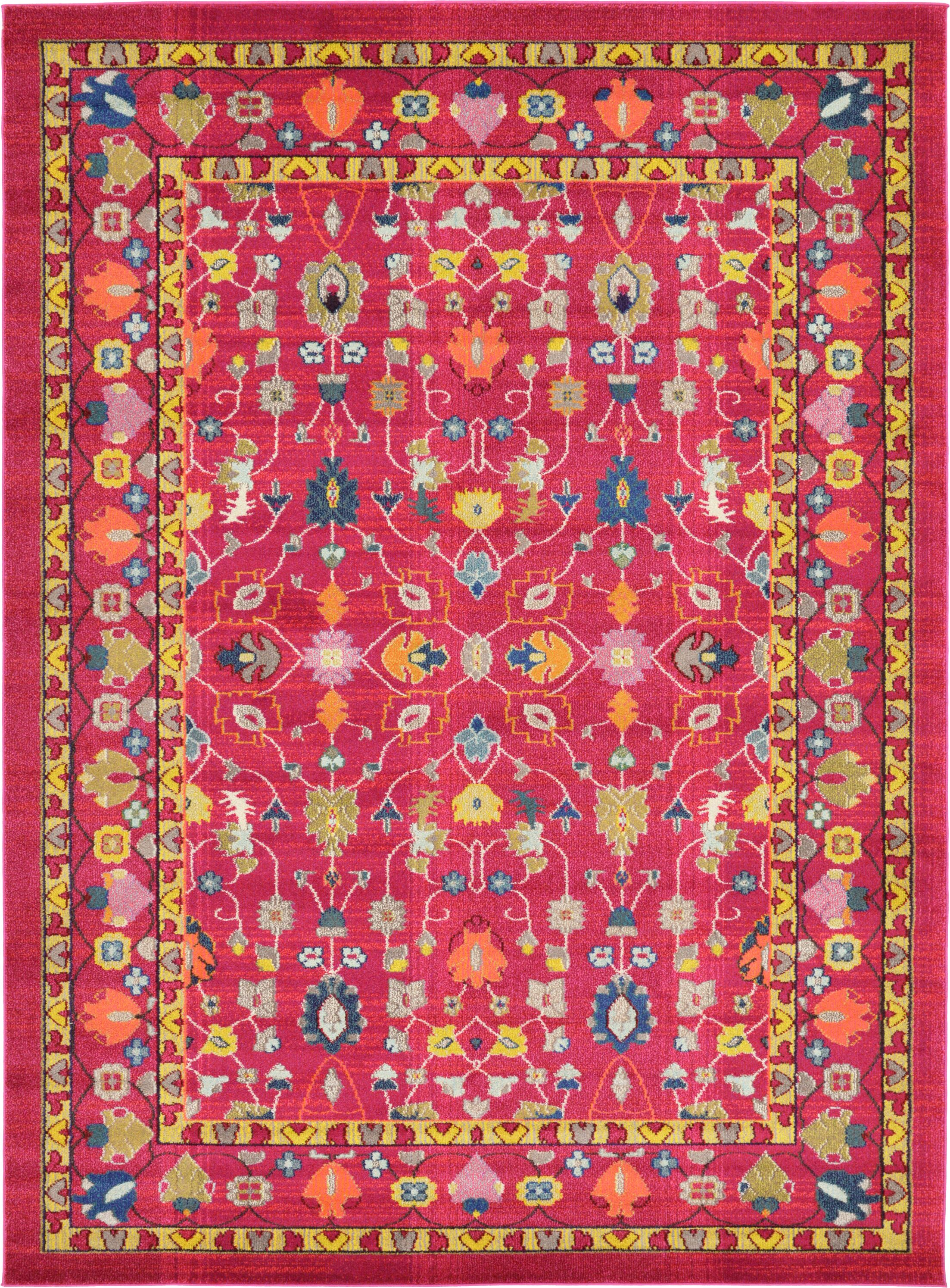 Iris Pink Area Rug Rug Size: Rectangle 8' x 11'