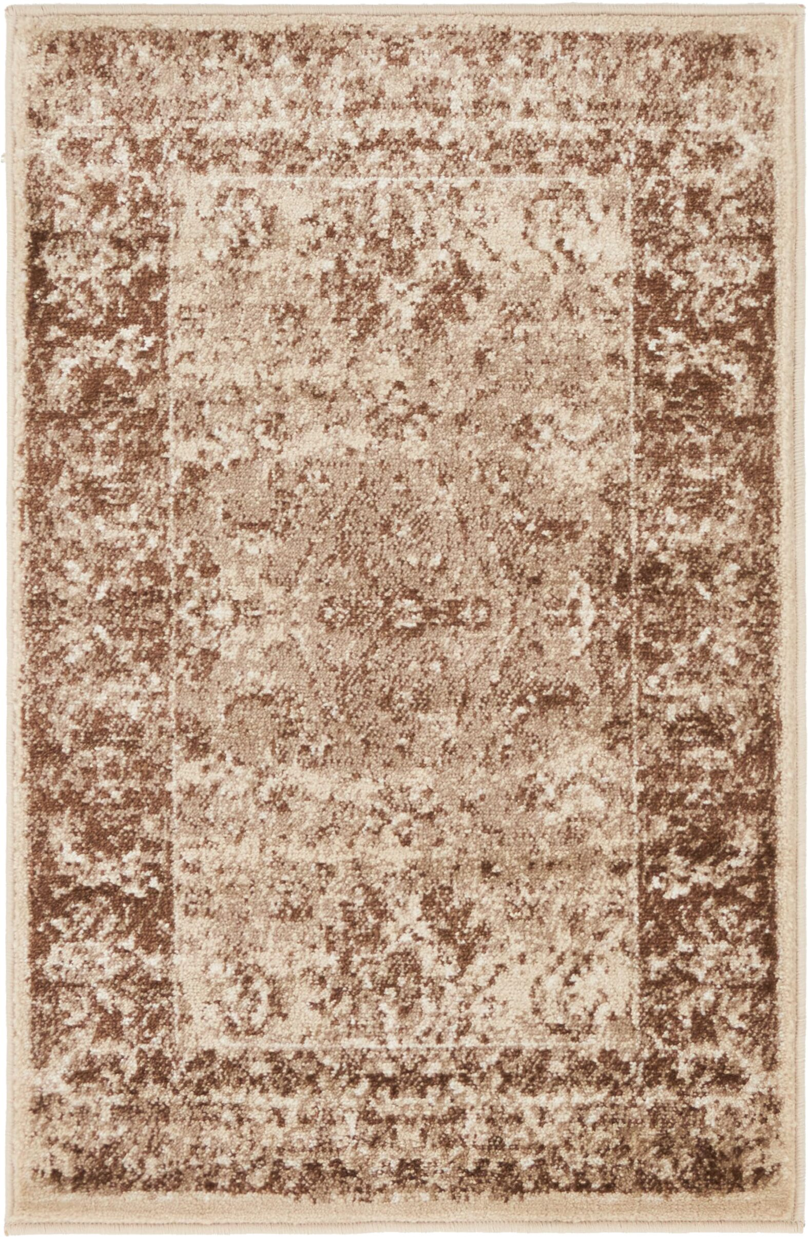 Neuilly Brown/Cream Area Rug Rug Size: Rectangle 2' x 3'