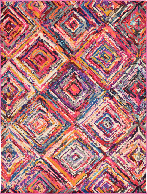 Killington Pink Area Rug Rug Size: Rectangle 9' x 12'