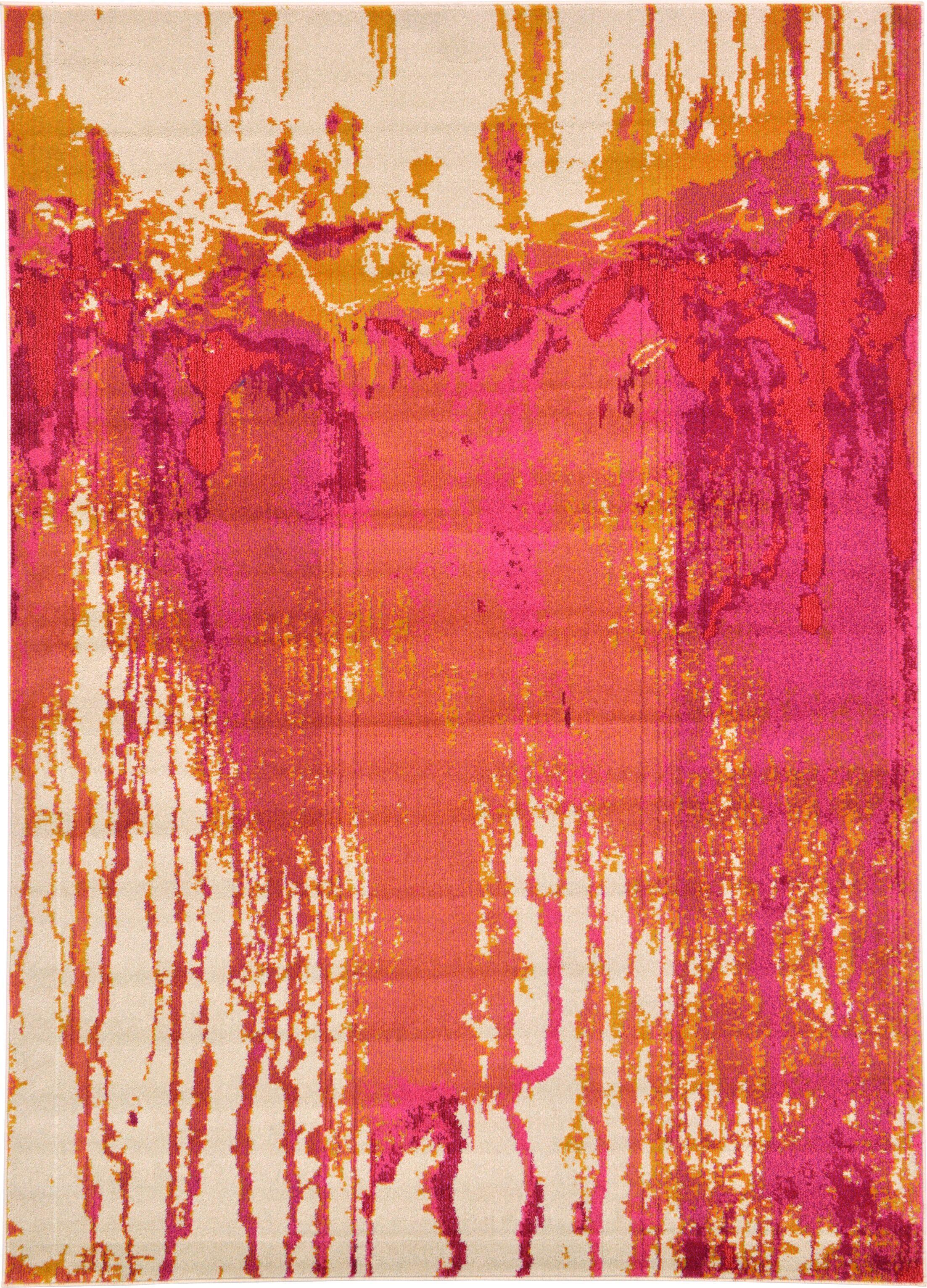 Colella Pink Area Rug Rug Size: Rectangle 7' x 10'