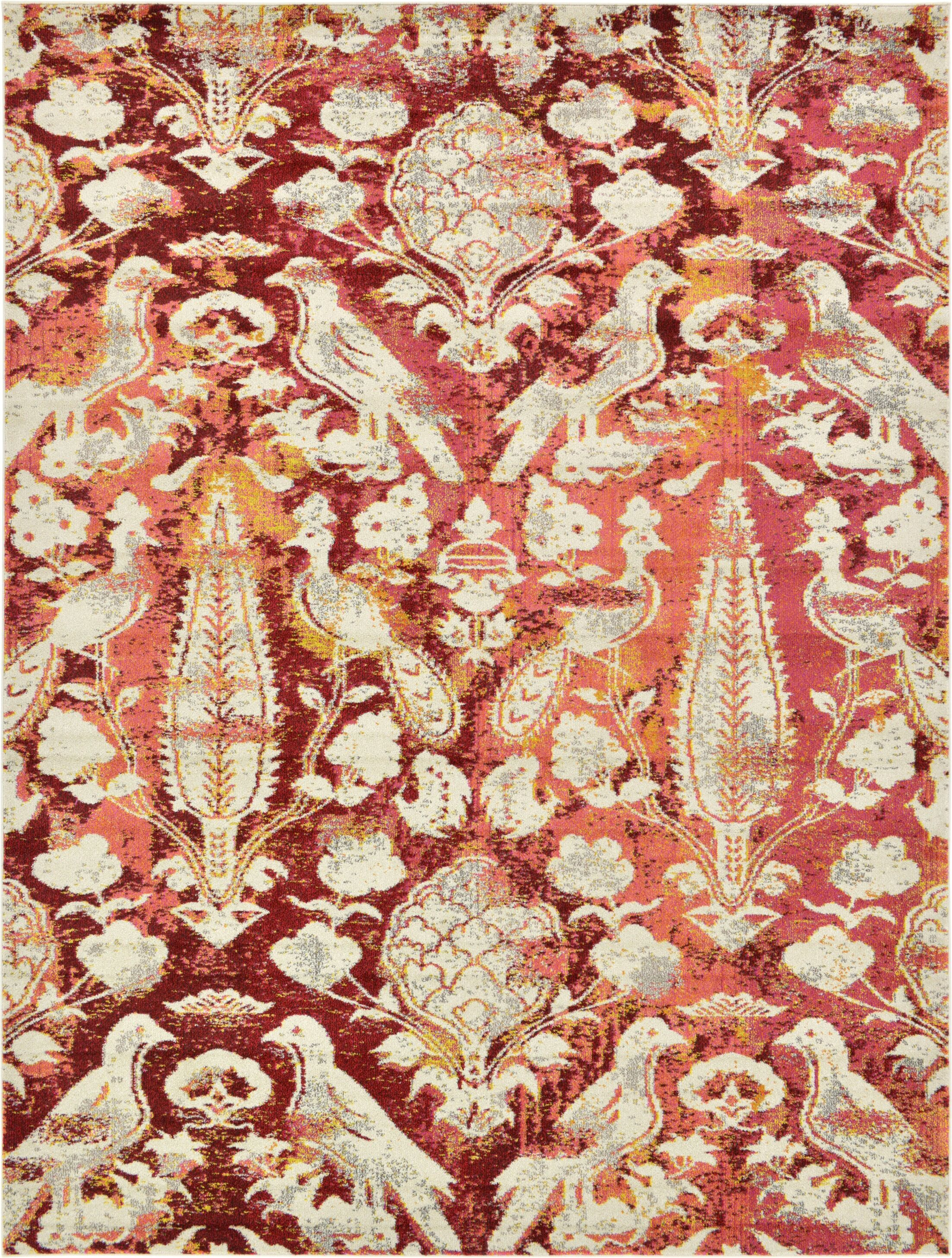 Roshan Red Area Rug Rug Size: Rectangle 9' x 12'