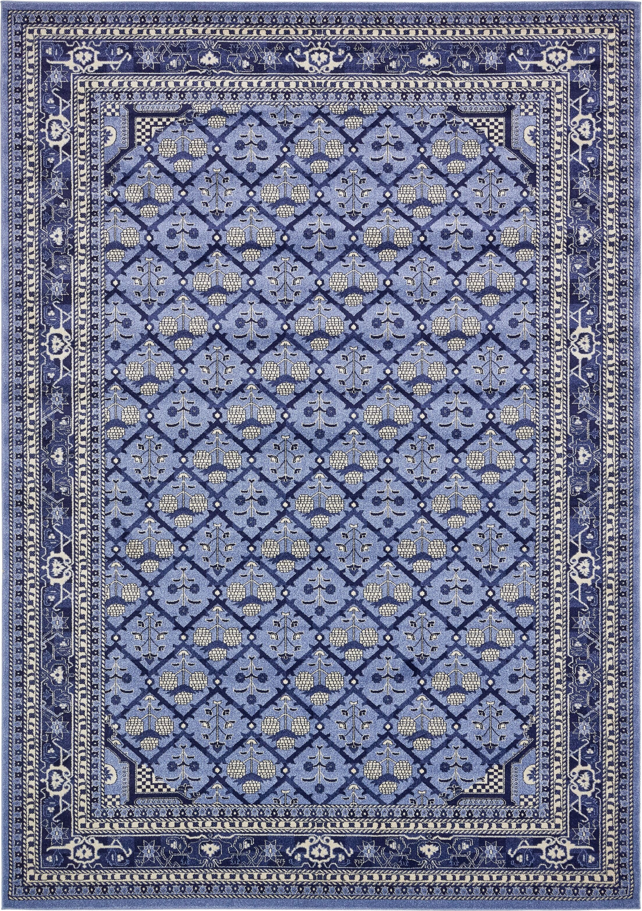 Katiranoma Blue Area Rug Rug Size: Rectangle 10' x 14'