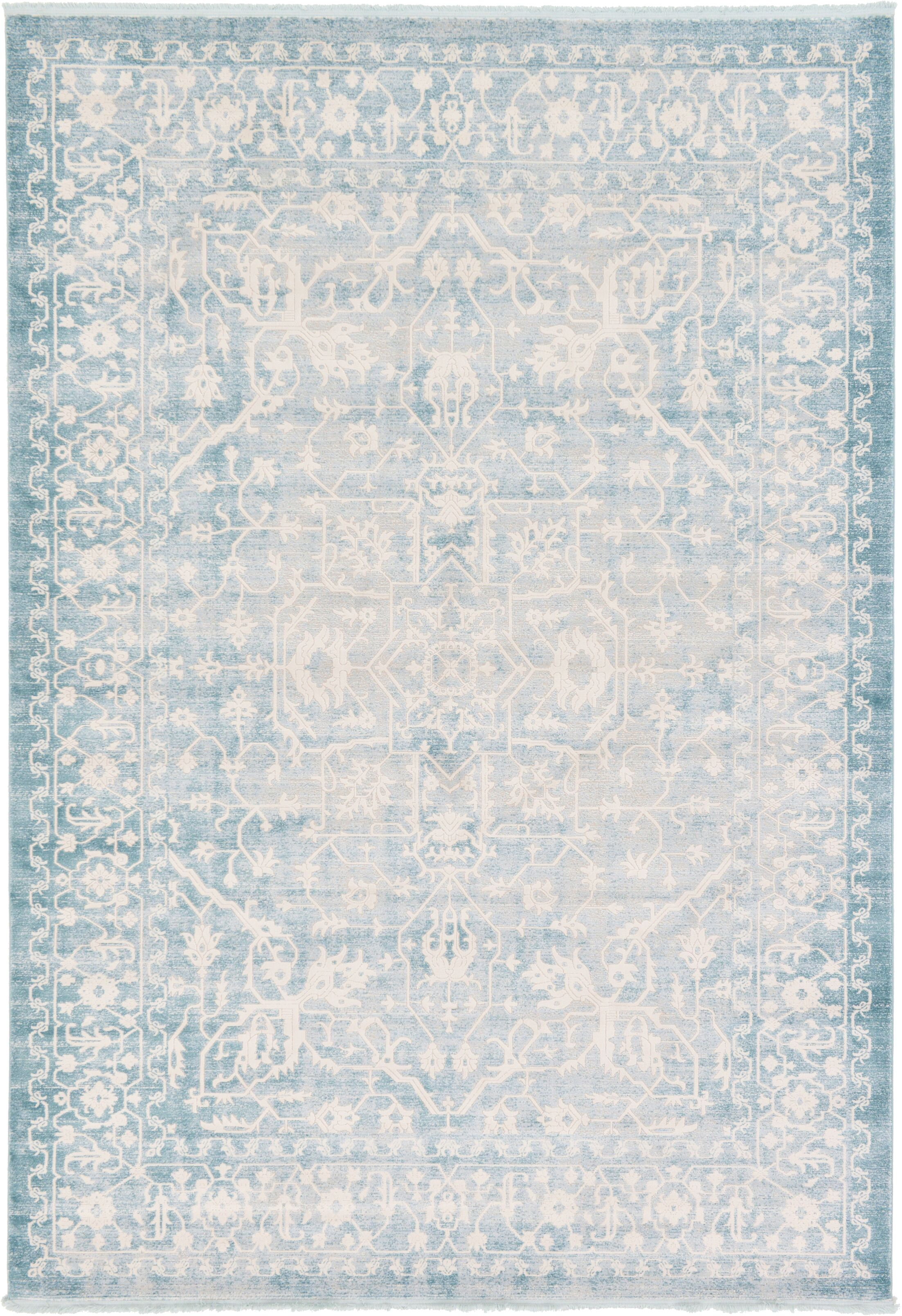 Bryant Oriental Light Blue Area Rug Rug Size: Rectangle 8' x 11'
