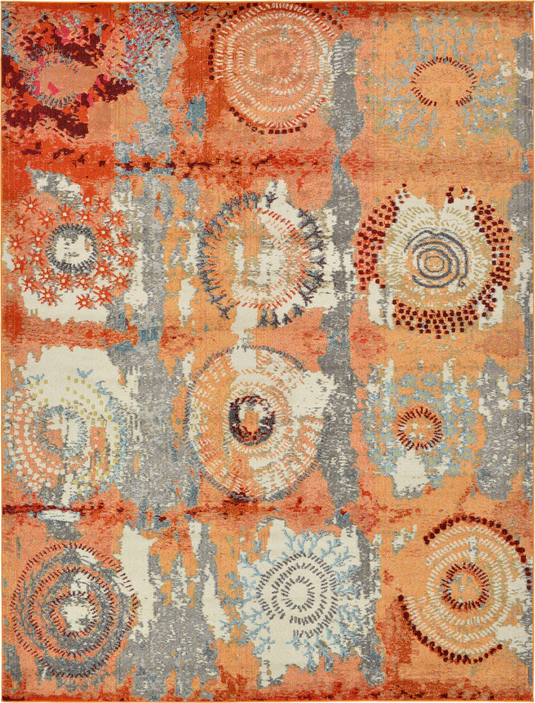 Hayes Orange Area Rug Rug Size: Rectangle 9' x 12'