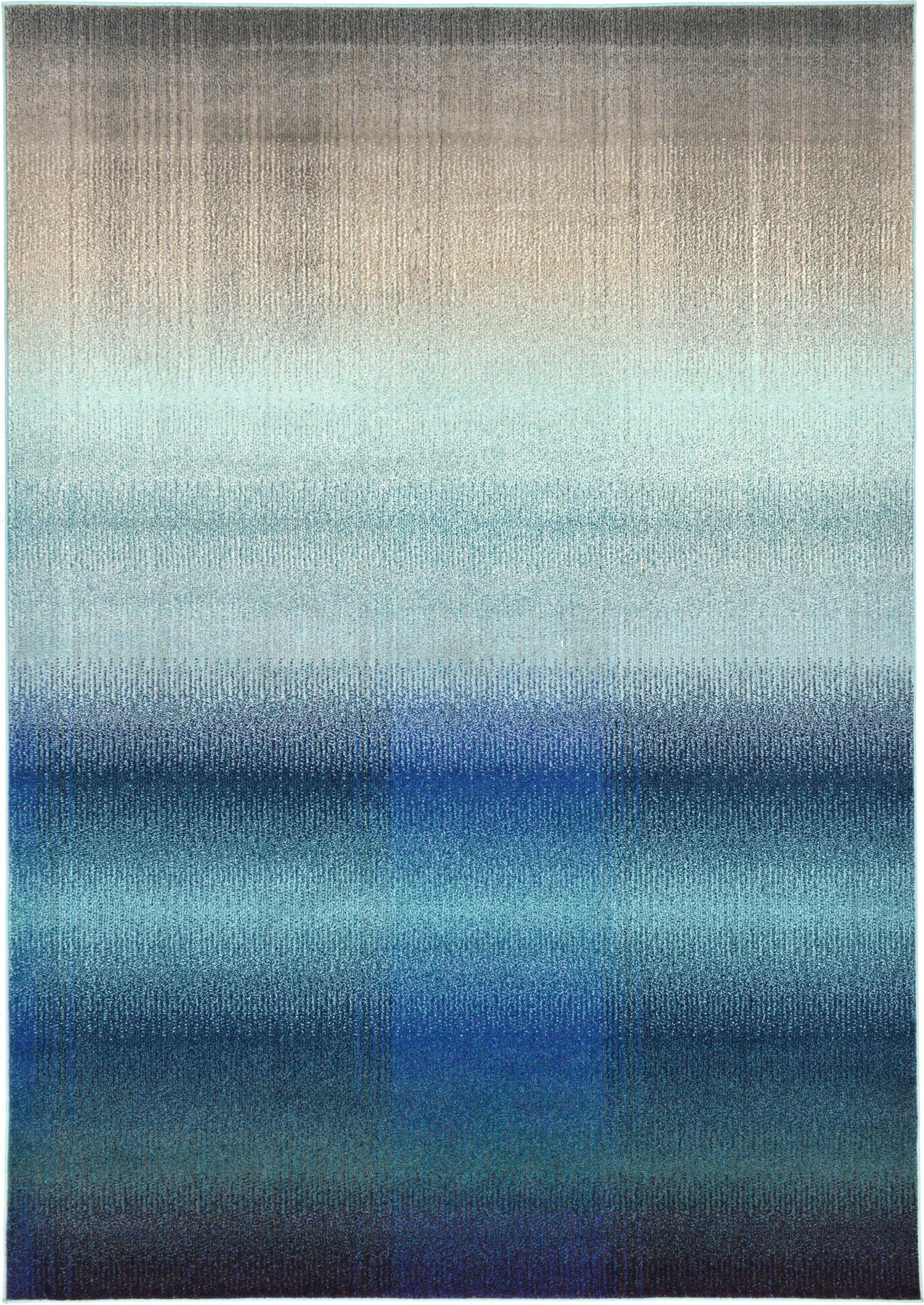 Applecroft Blue Fade Area Rug Rug Size: Rectangle 7.1' x 10'
