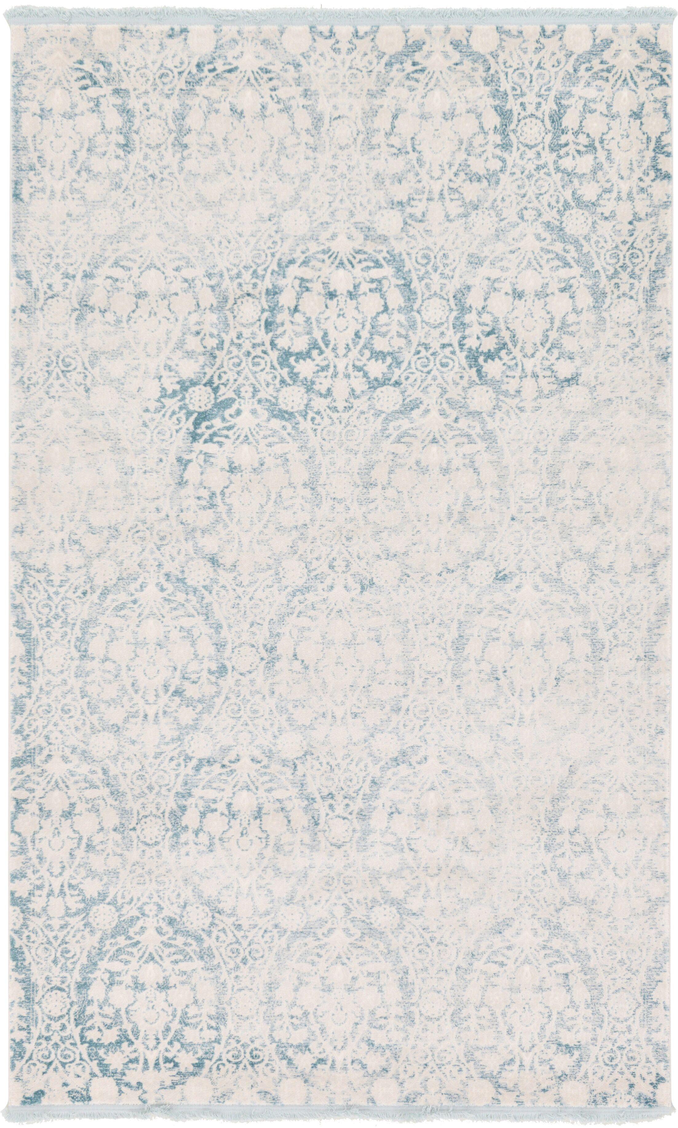 Patenaude Light Blue Area Rug Rug Size: Rectangle 5' x 8'