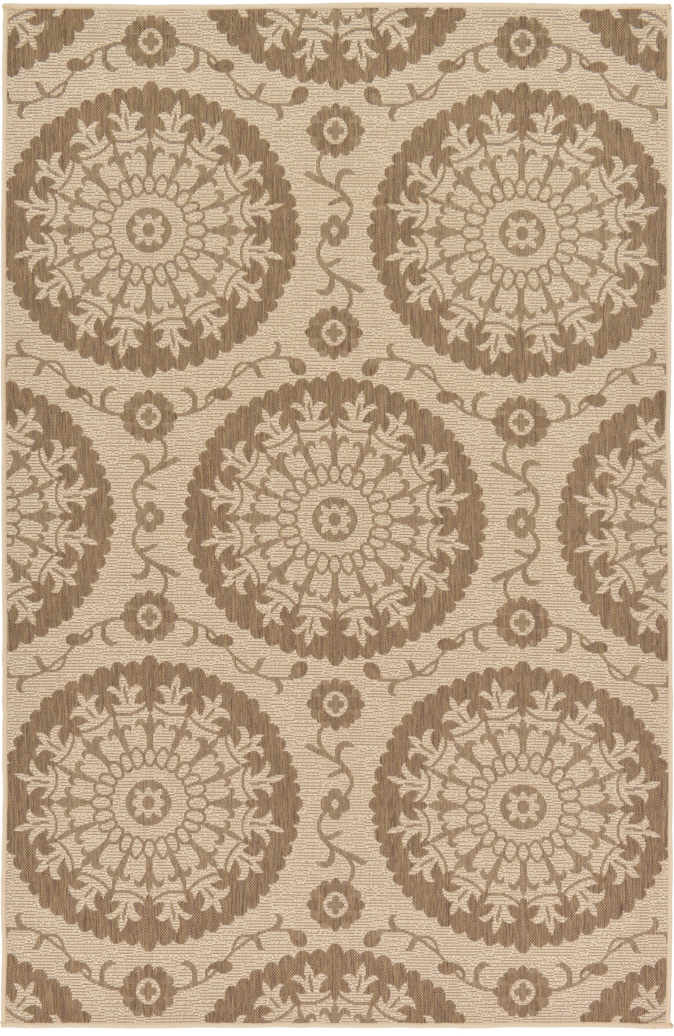Foreside Beige Area Rug Rug Size: Rectangle 5'3