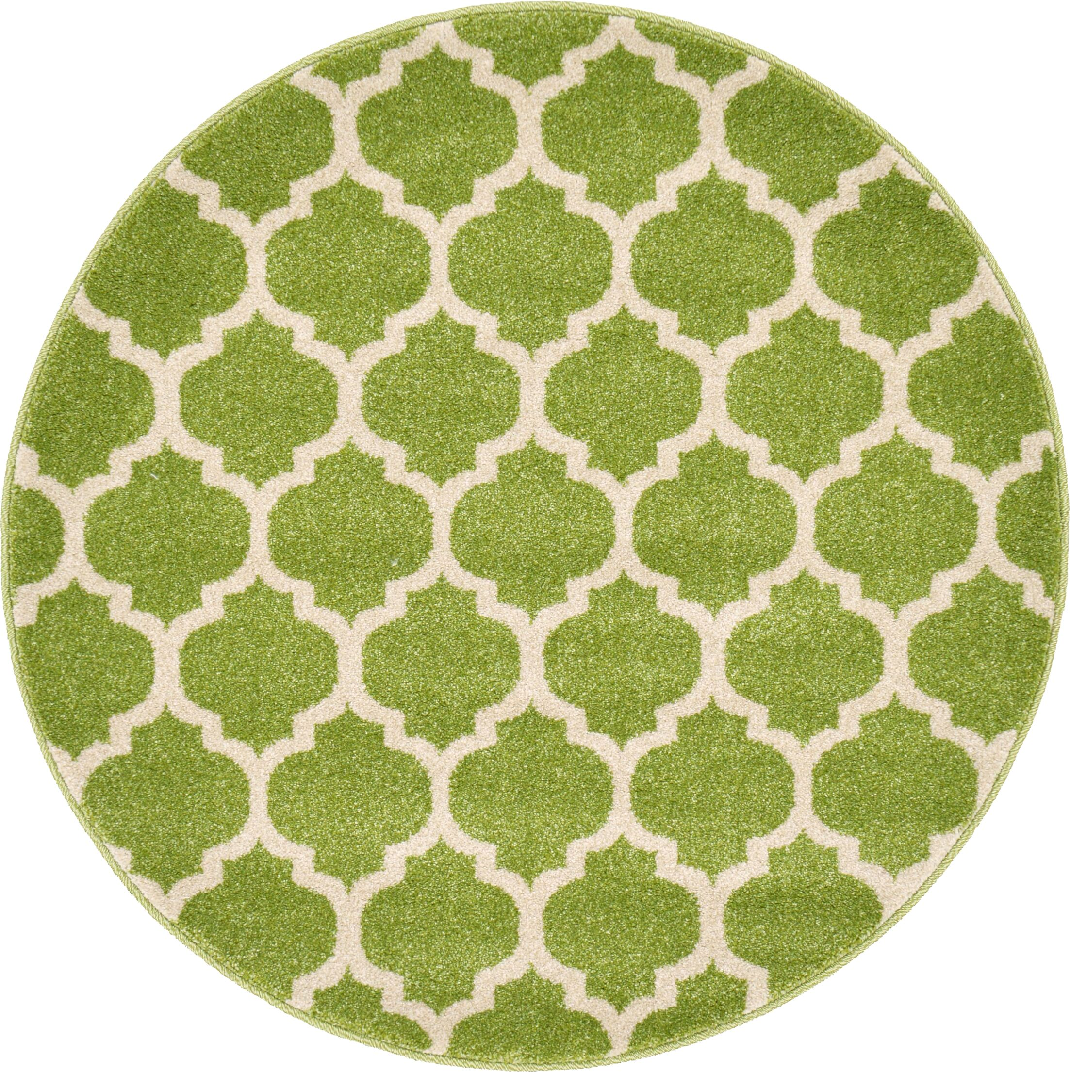 Moore Light Green Area Rug Rug Size: Round 3'3