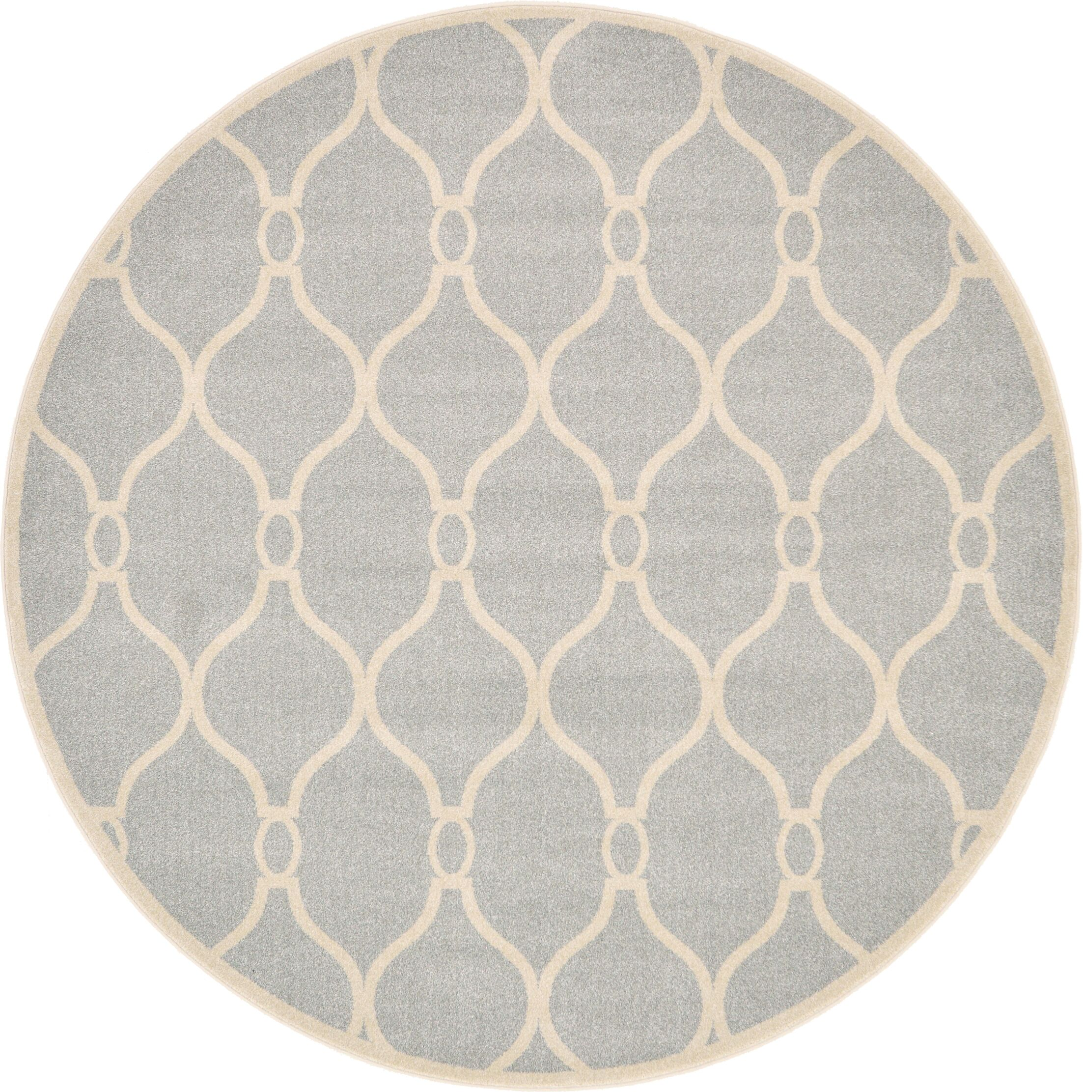 Molly Light Gray Area Rug Rug Size: Round 8'