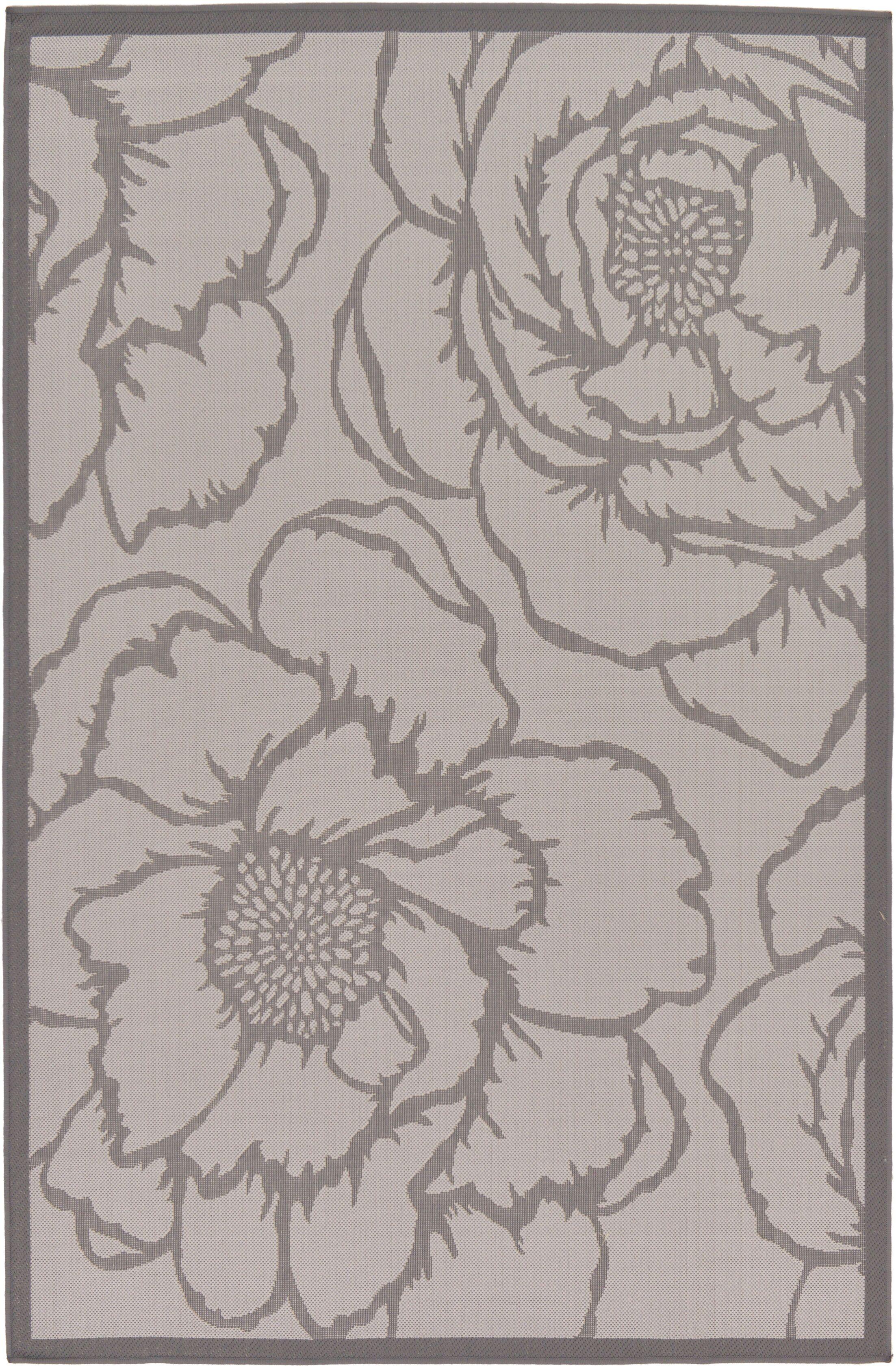 Barriga Gray Outdoor Area Rug Rug Size: Rectangle 5'3