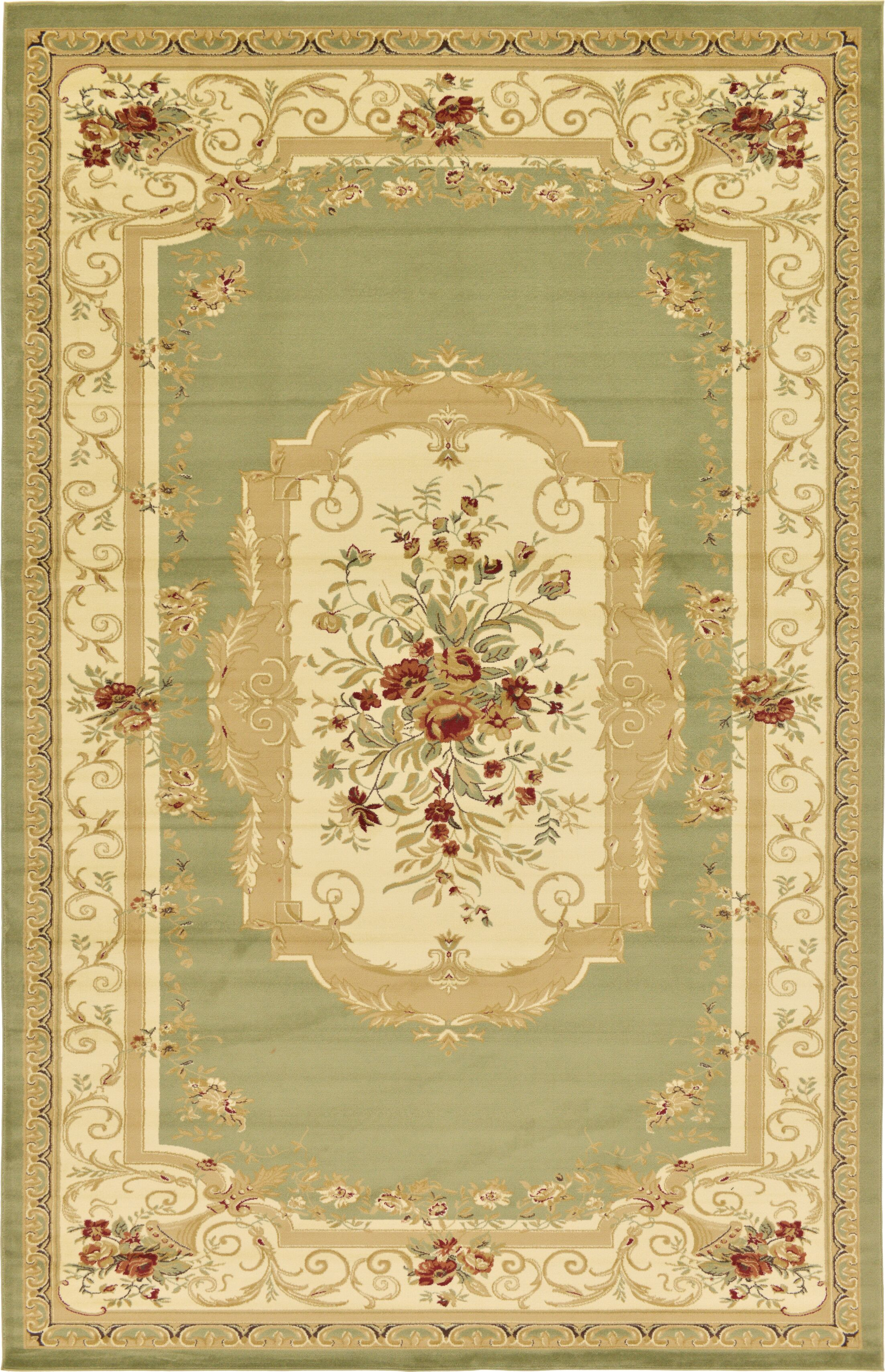Patton Green Area Rug Rug Size: Rectangle 10'6
