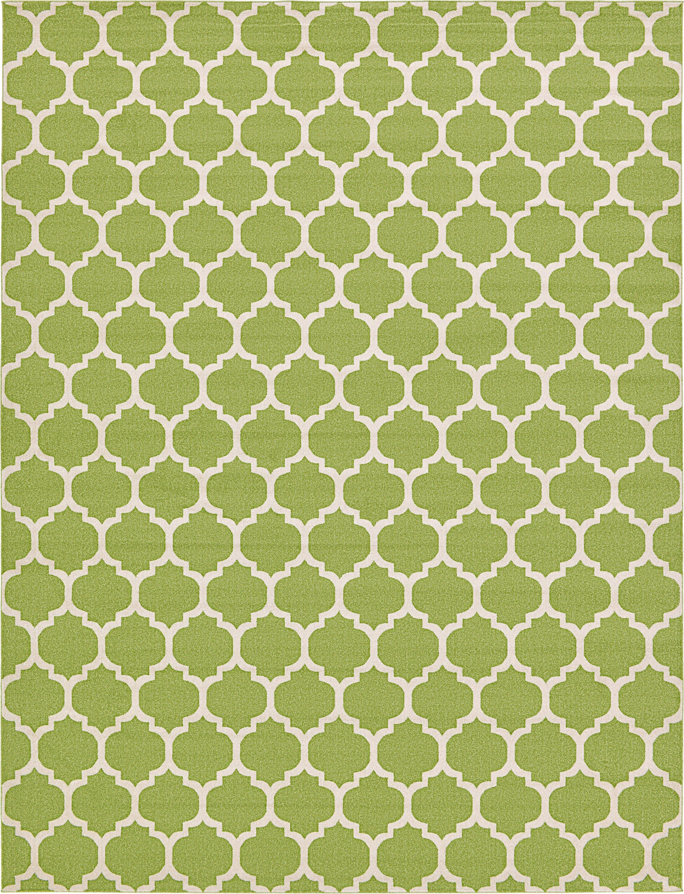 Moore Light Green Area Rug Rug Size: Rectangle 12'2