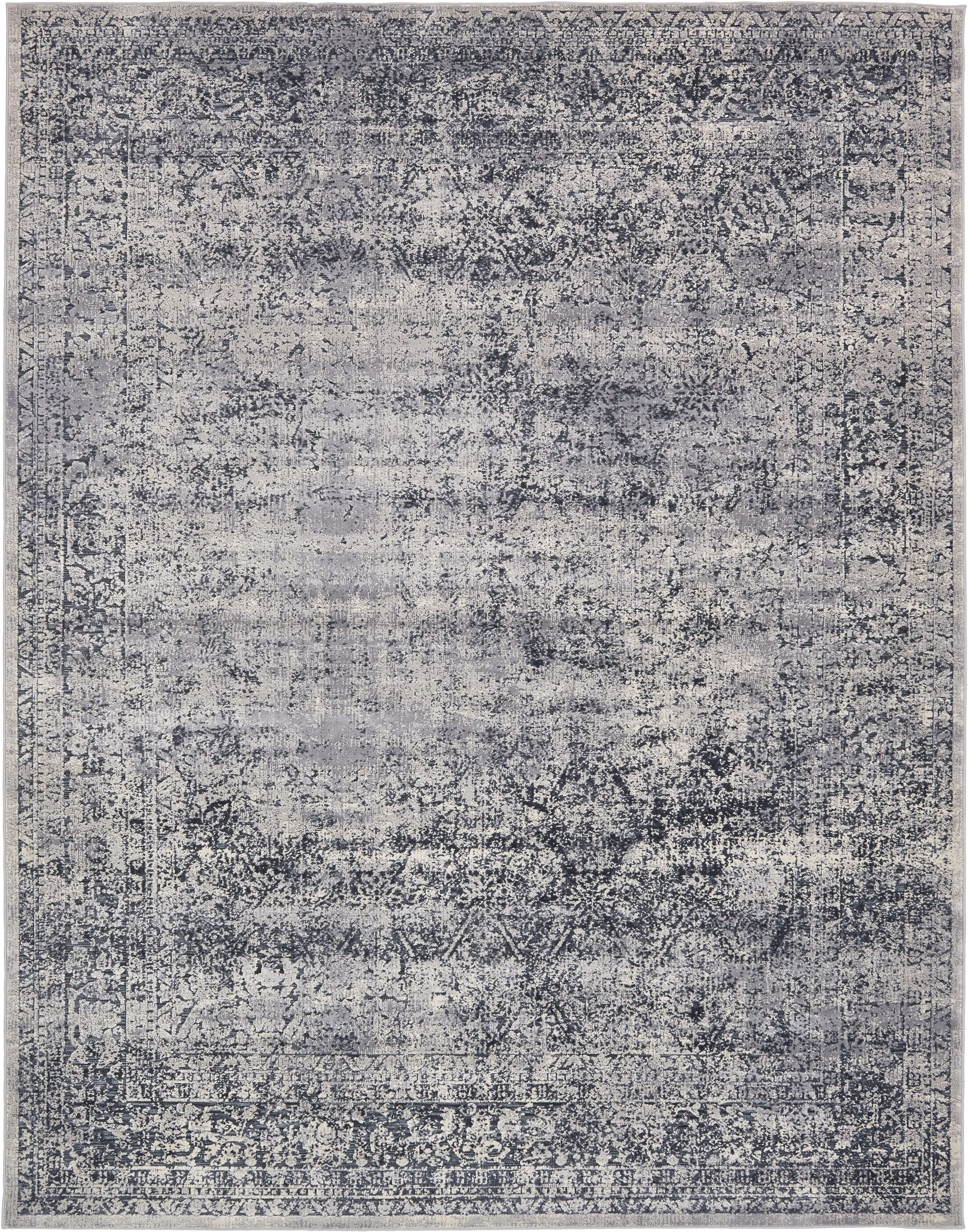 Abbeville Eclectic Dark Gray Area Rug Rug Size: Rectangle 8' x 10'